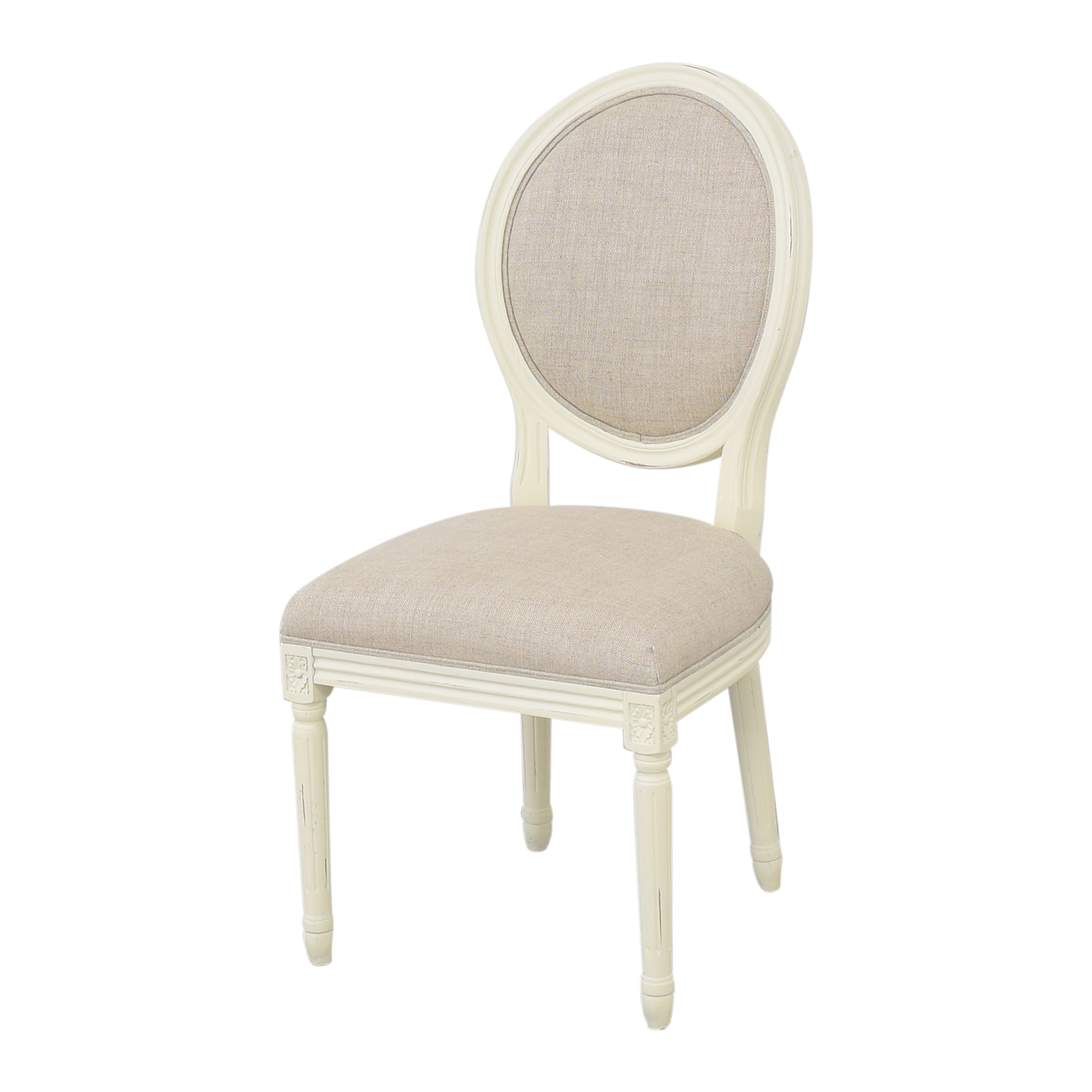 Restoration Hardware Restoration Hardware Vintage French Round Side Chairs dimensions