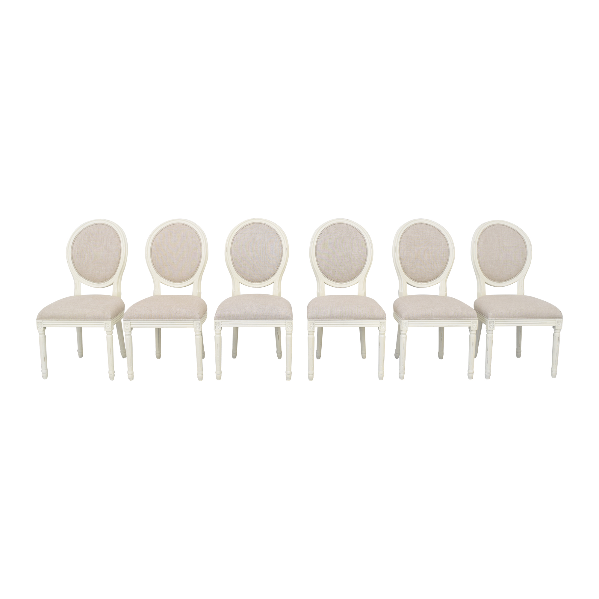 Restoration Hardware Restoration Hardware Vintage French Round Side Chairs ma