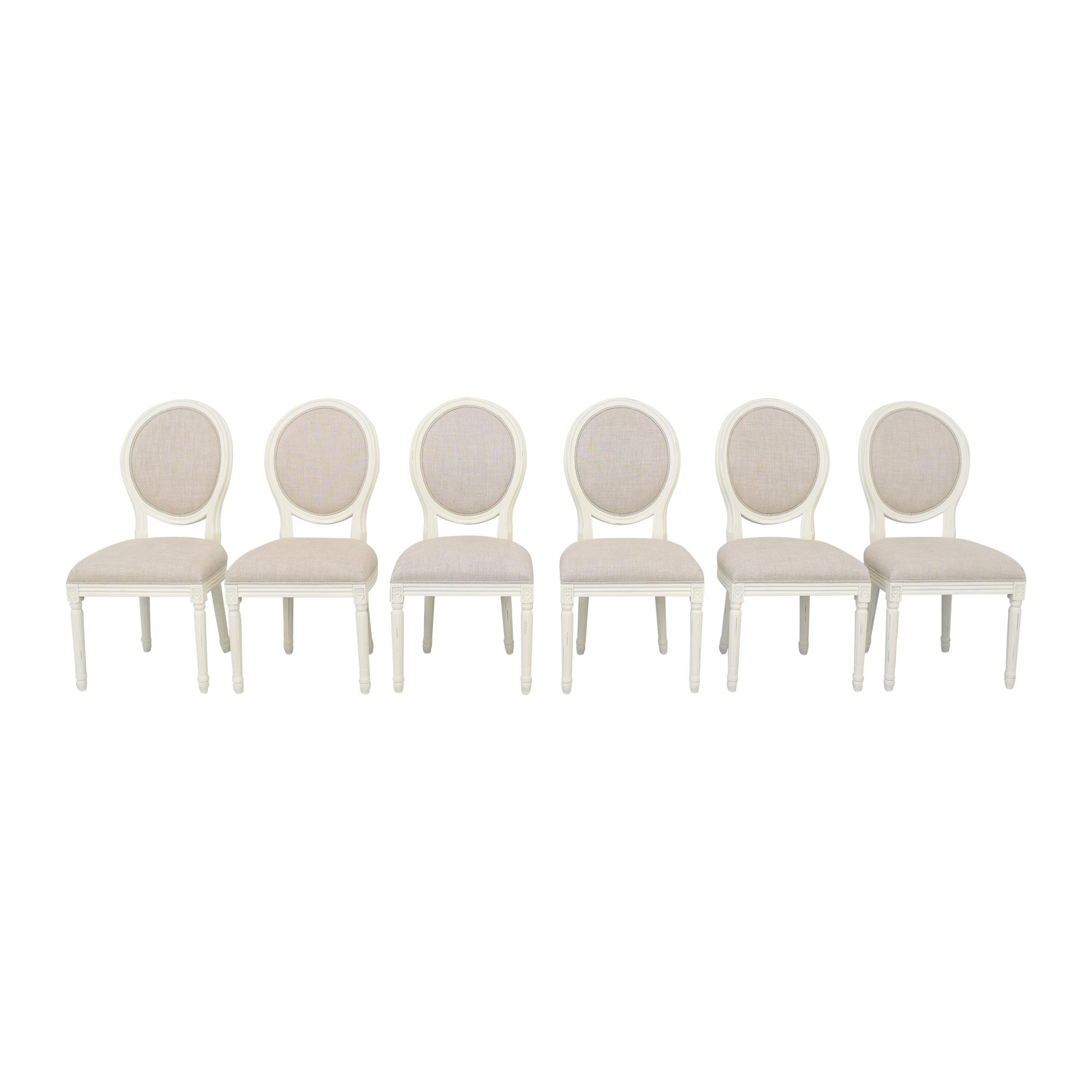 shop Restoration Hardware Vintage French Round Side Chairs Restoration Hardware Dining Chairs
