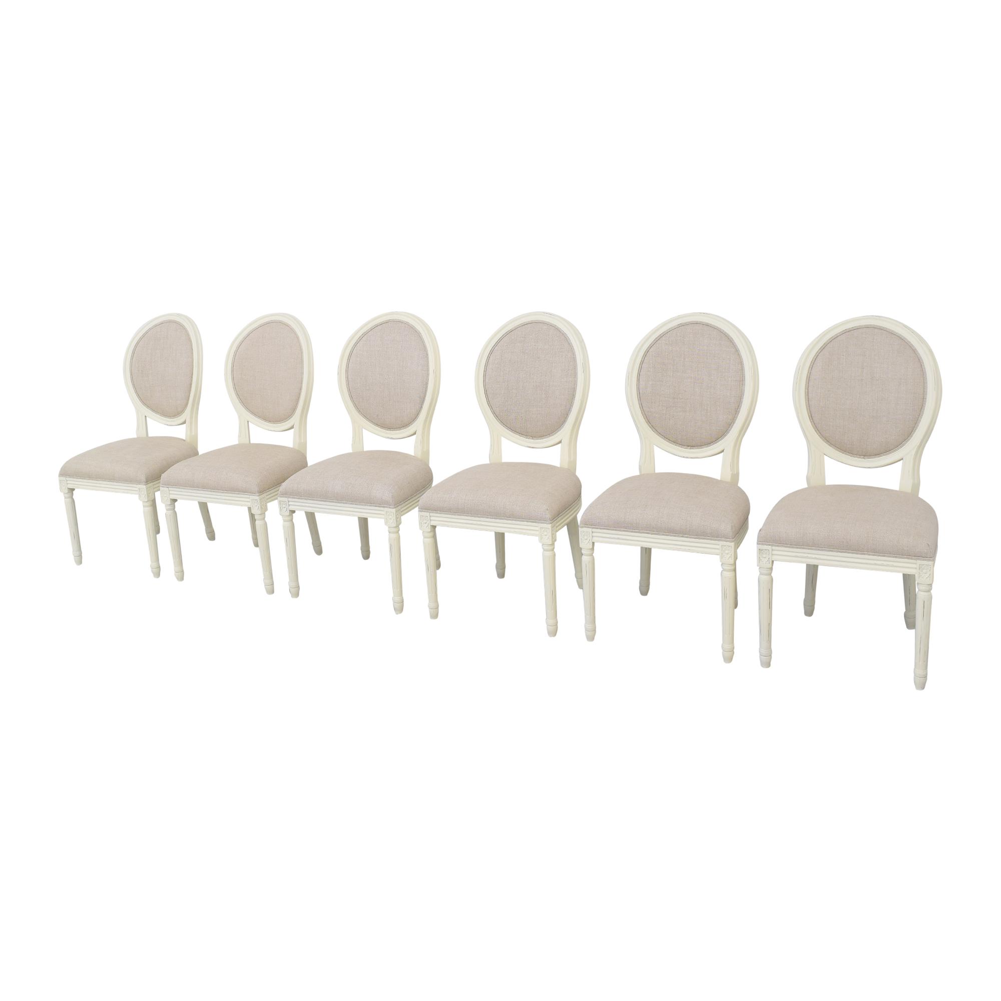 shop Restoration Hardware Vintage French Round Side Chairs Restoration Hardware