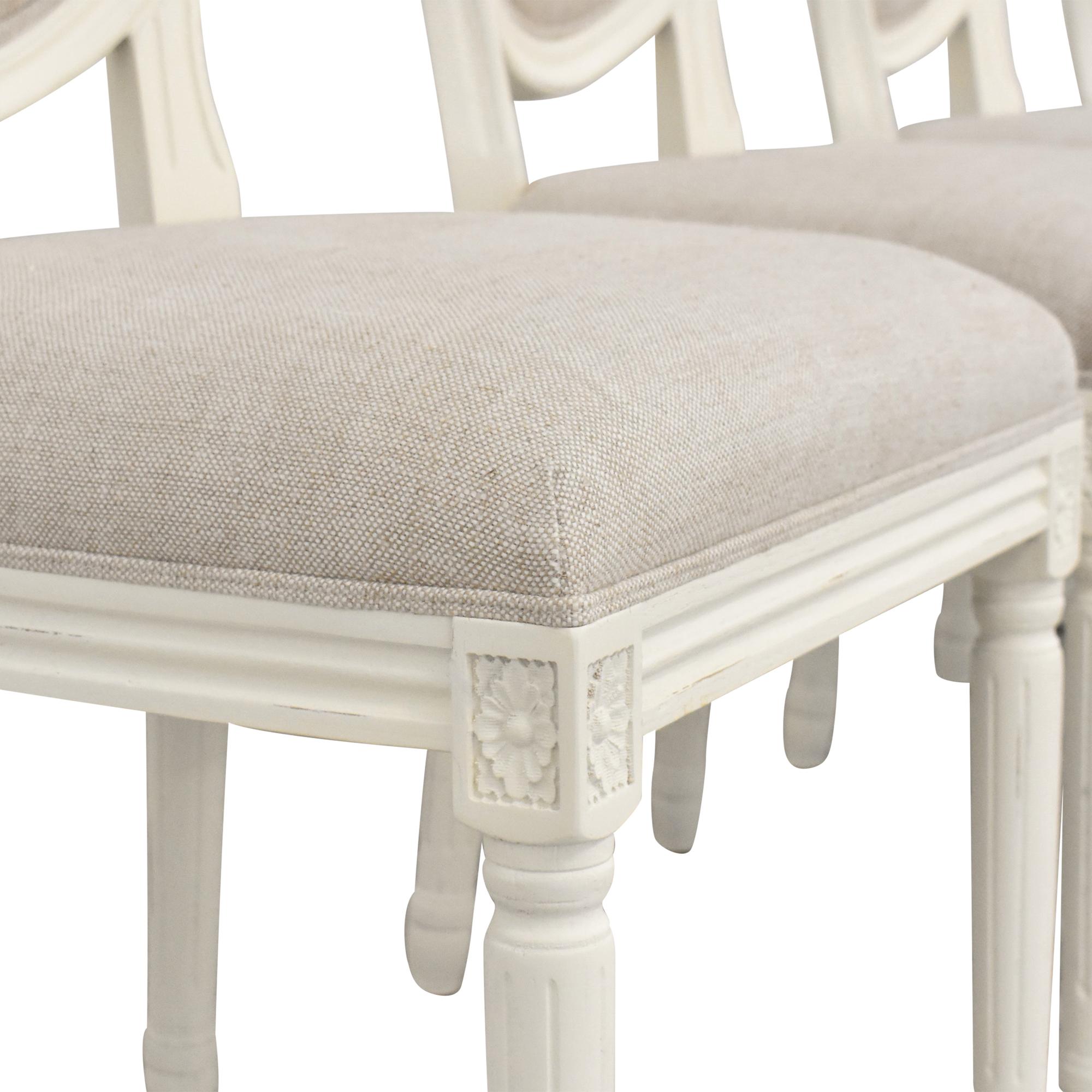 Restoration Hardware Vintage French Round Side Chairs sale