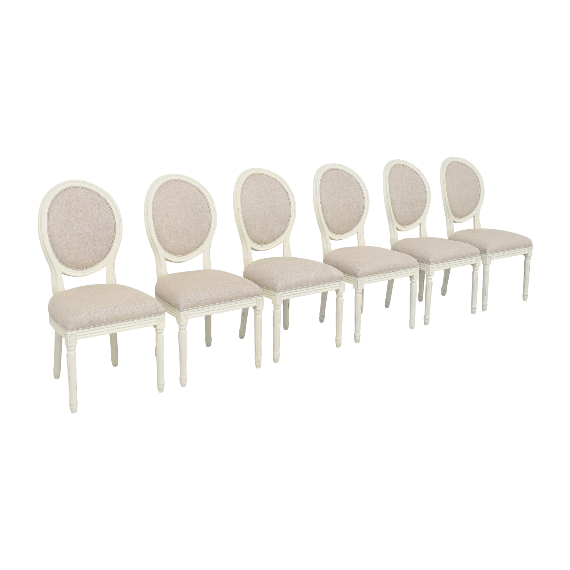 Restoration Hardware Restoration Hardware Vintage French Round Side Chairs used