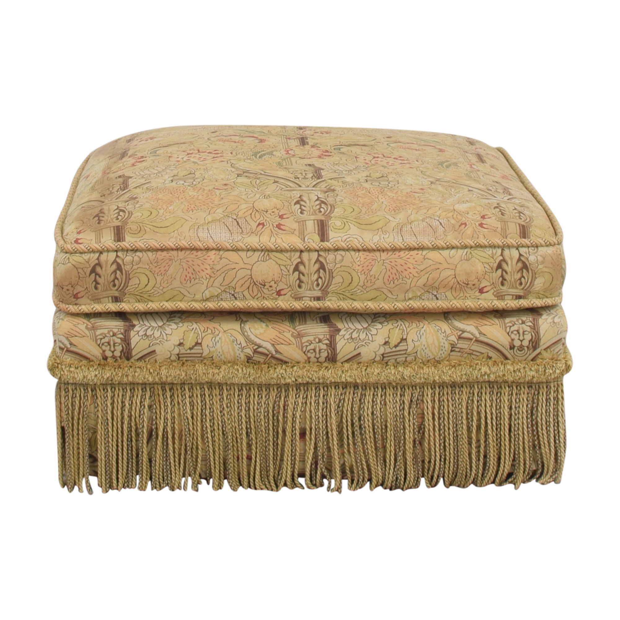 Custom Ottoman with Fringe nyc