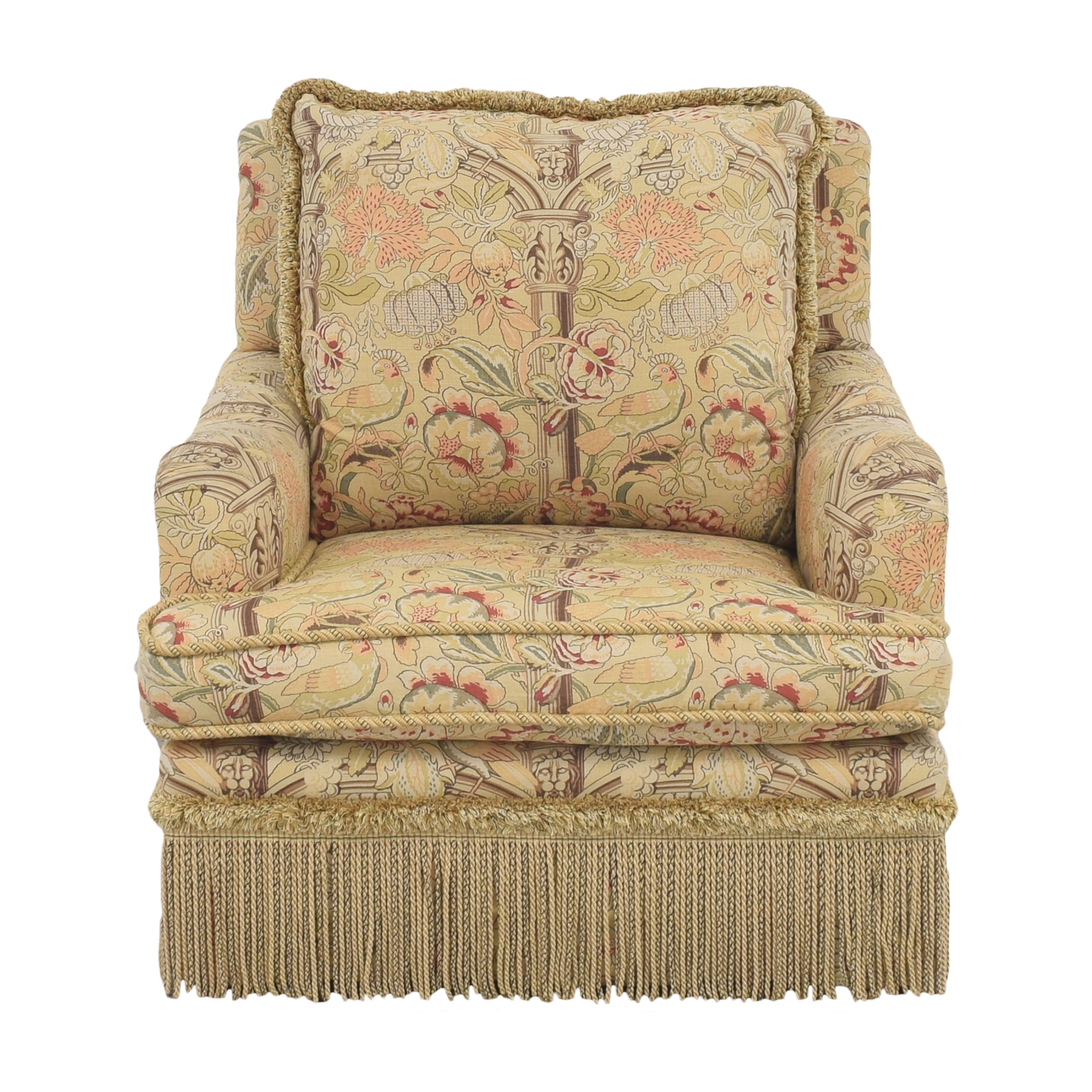 buy  Custom Fringe Skirt Accent Chair online