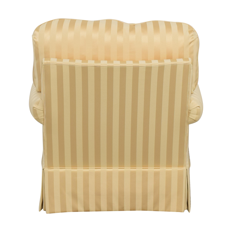 shop Thomasville Stripe Accent Chair Thomasville Chairs