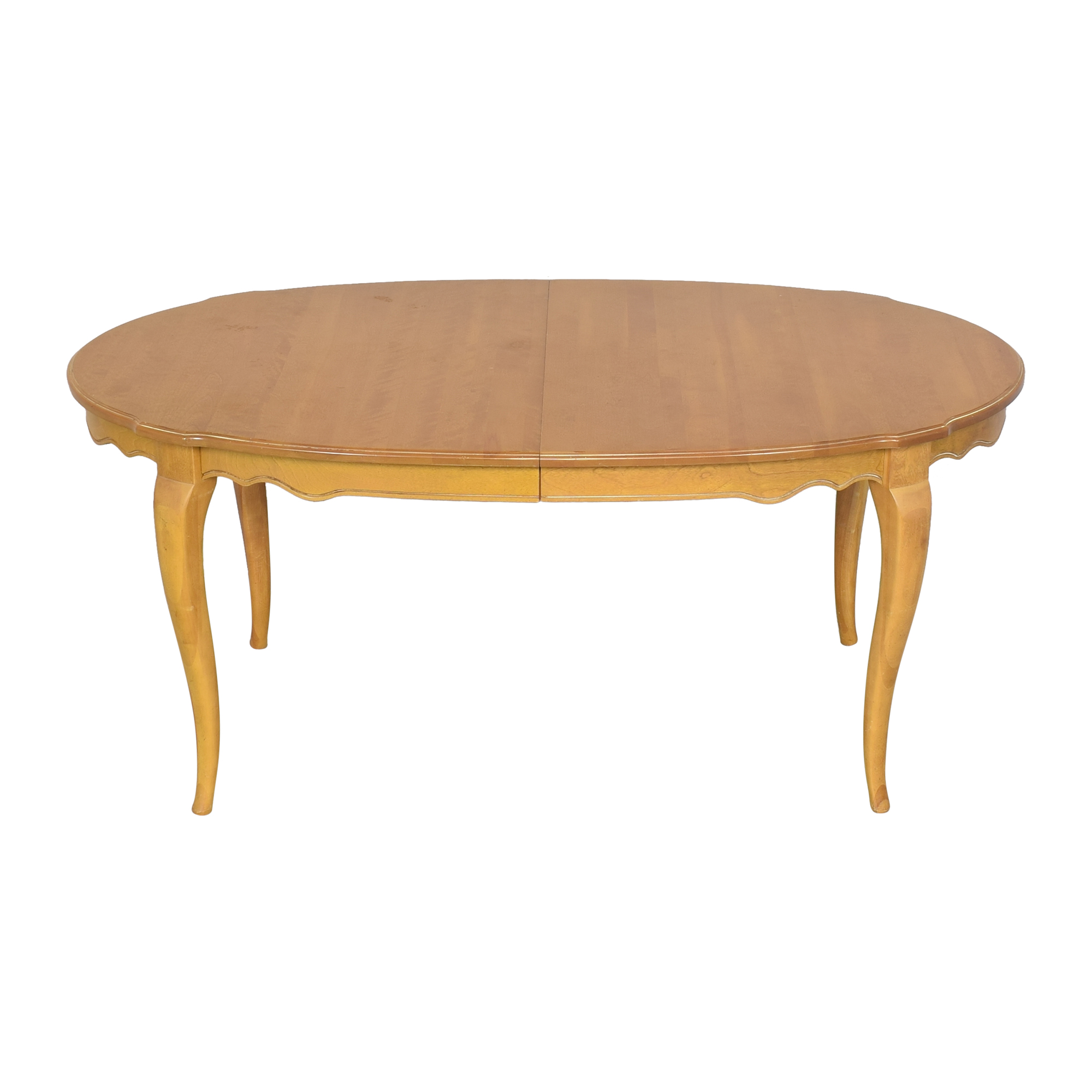 buy Ethan Allen Country French Oval Extendable Dining Table Ethan Allen Dinner Tables