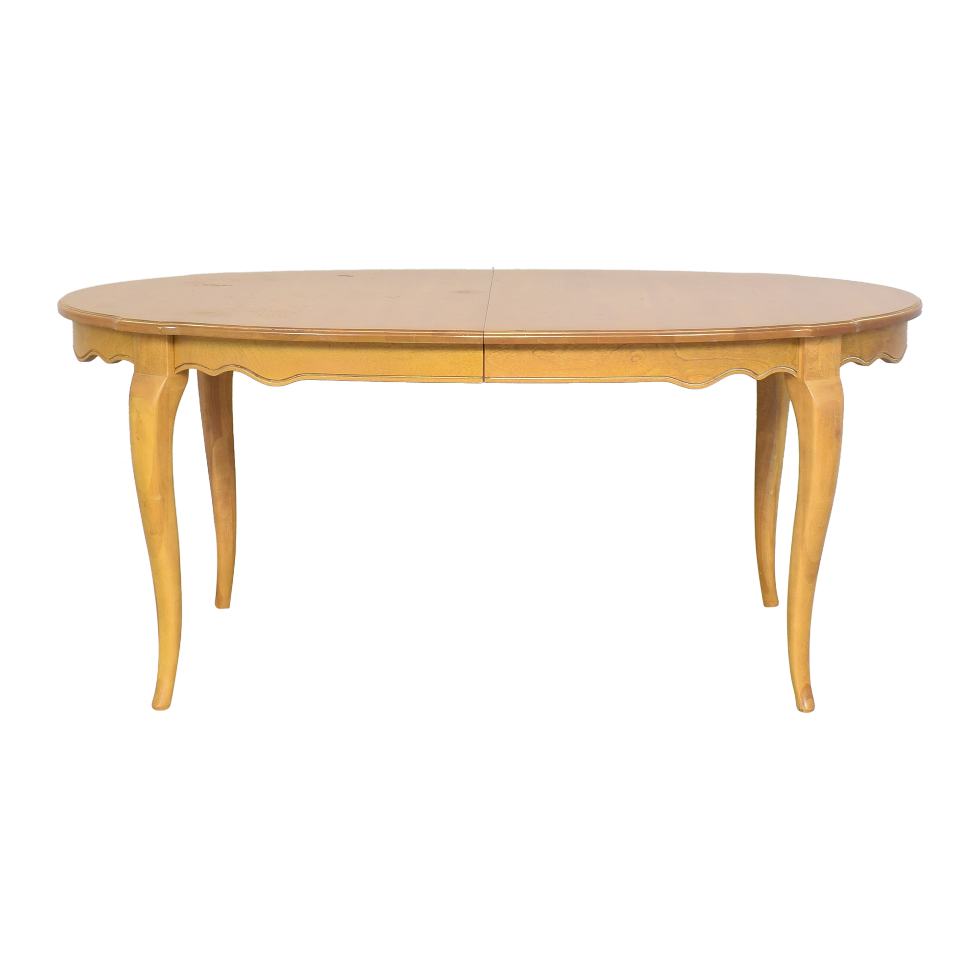 shop Ethan Allen Country French Oval Extendable Dining Table Ethan Allen