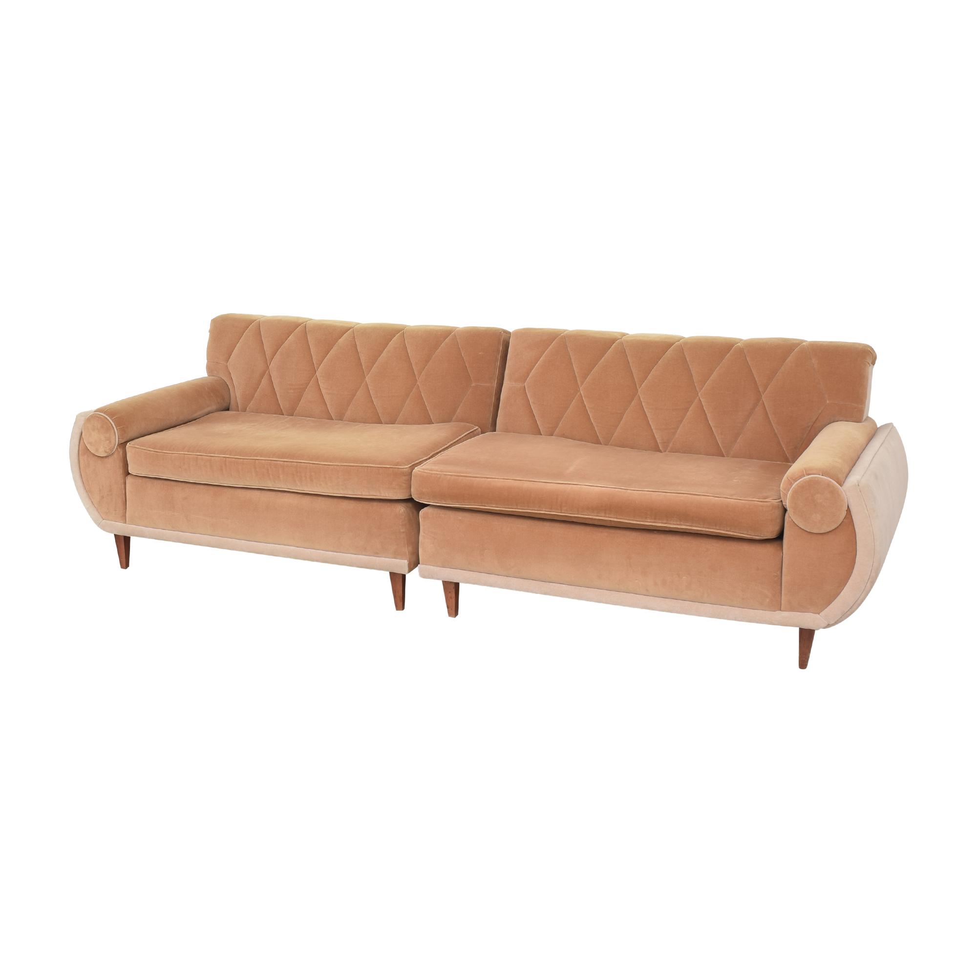 Art Deco Sectional Sofa nj