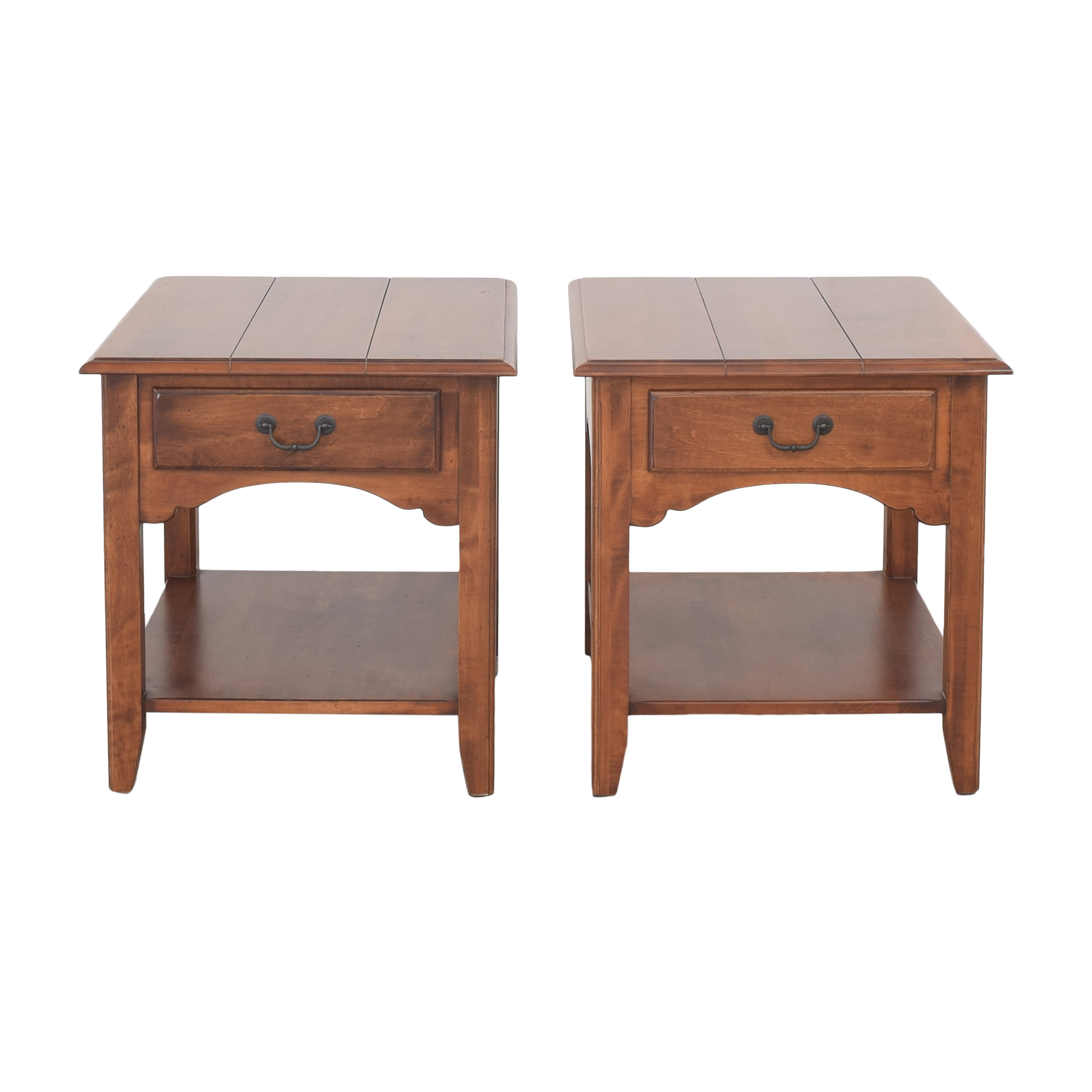 Ethan Allen Ethan Allen Country Crossing End Tables brown