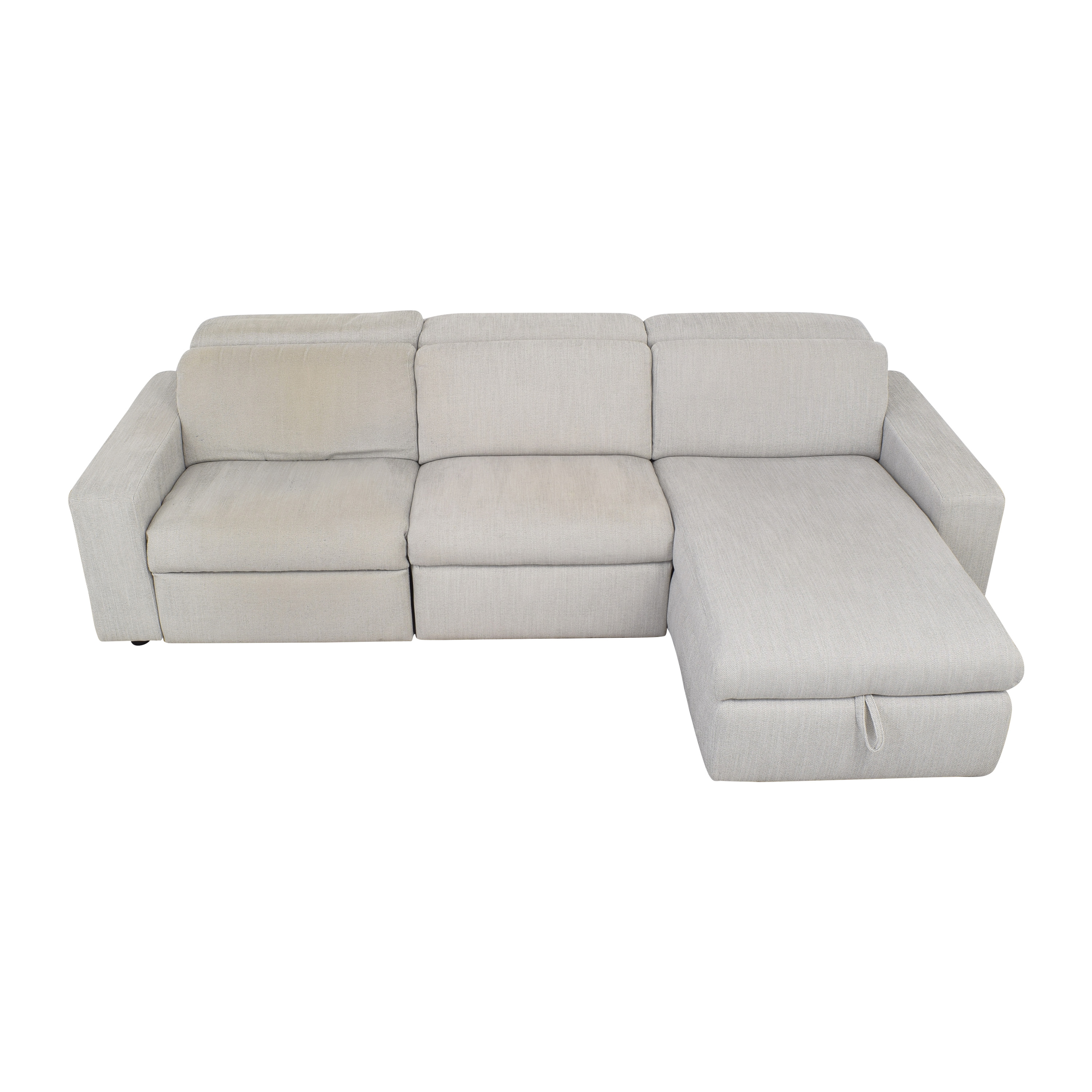Picture of: 38 Off West Elm West Elm Enzo Reclining Sectional Sofa With Storage Chaise Sofas