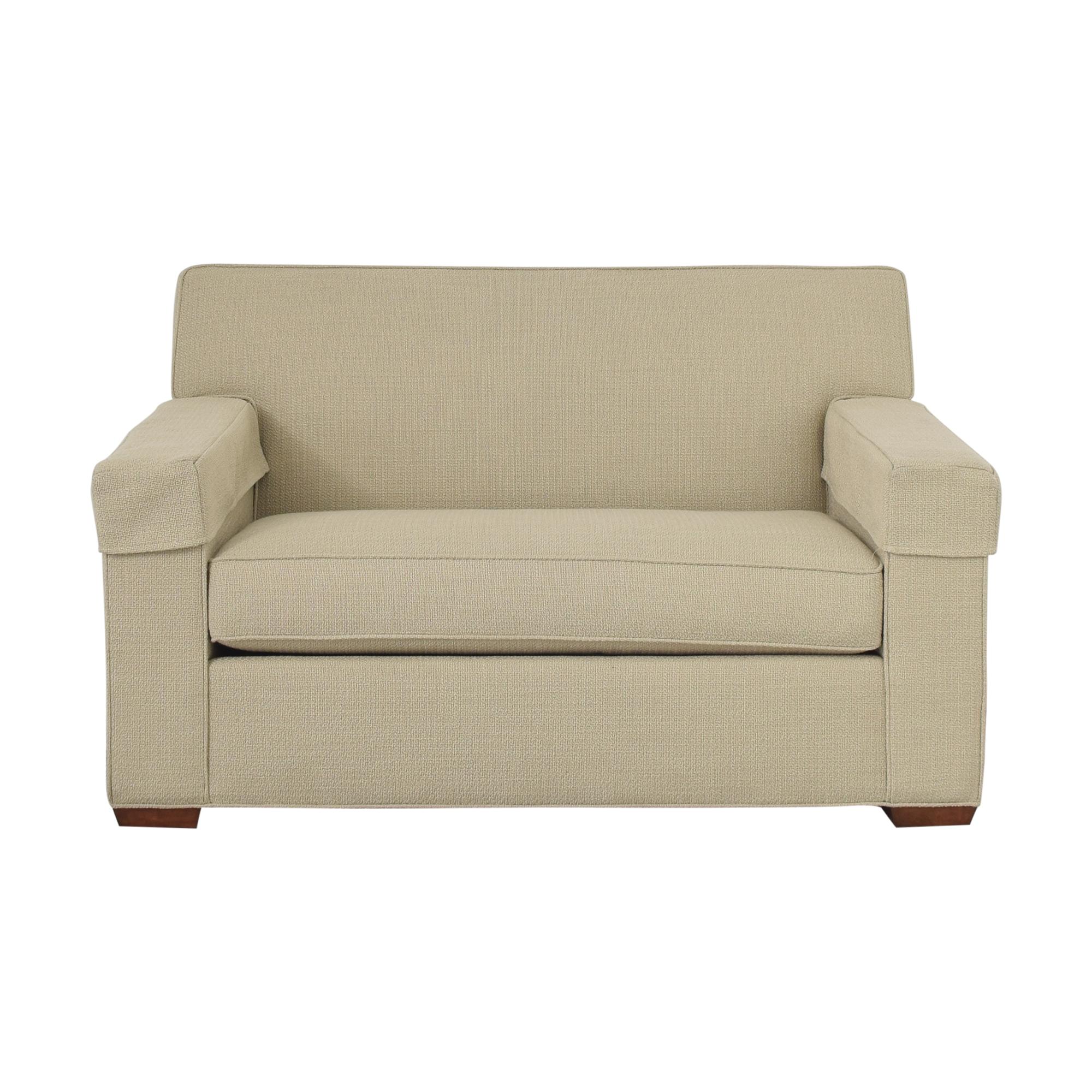 buy Ethan Allen Chair-and-a-Half Twin Sleeper Ethan Allen Loveseats