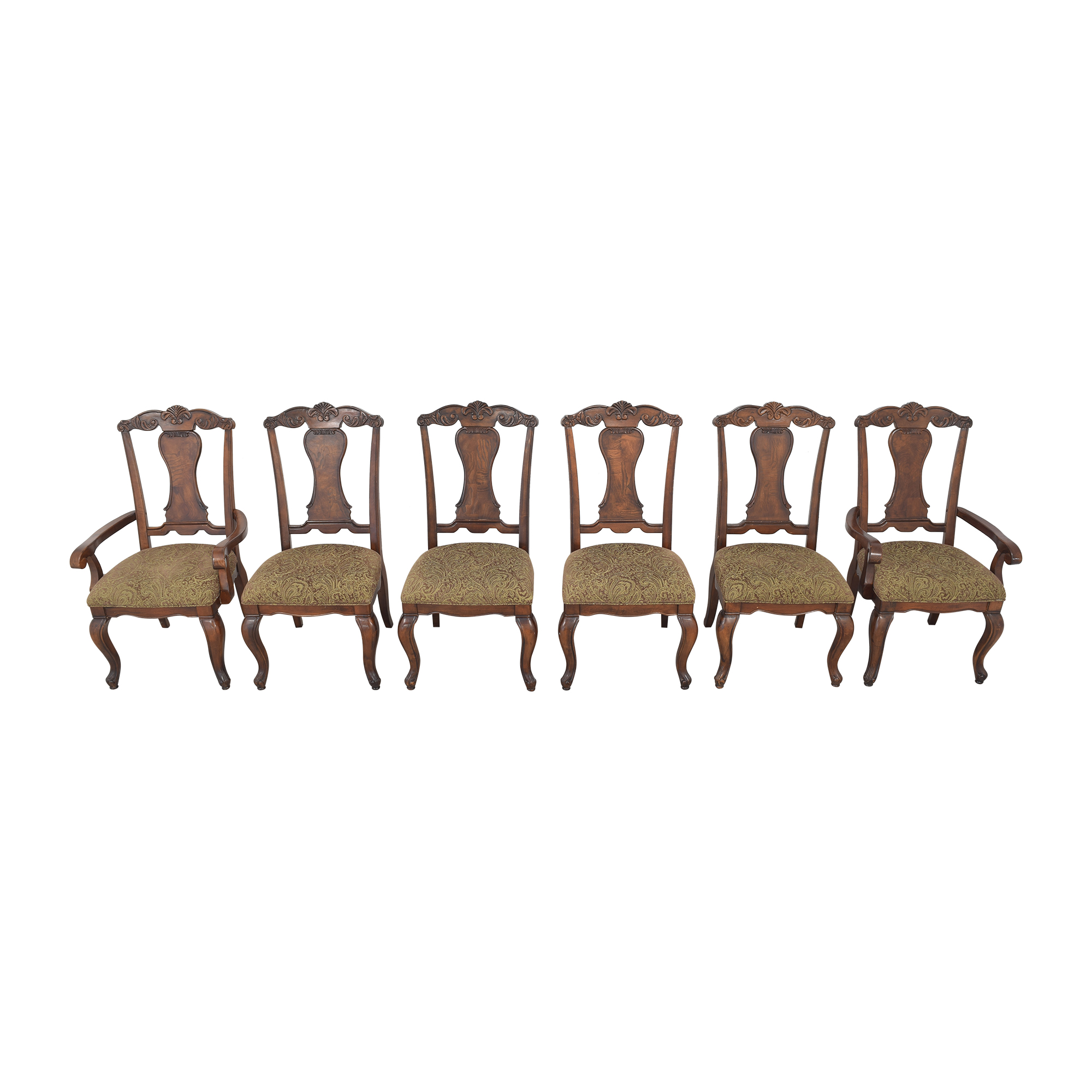 Raymour & Flanigan Carved Dining Chairs Raymour & Flanigan