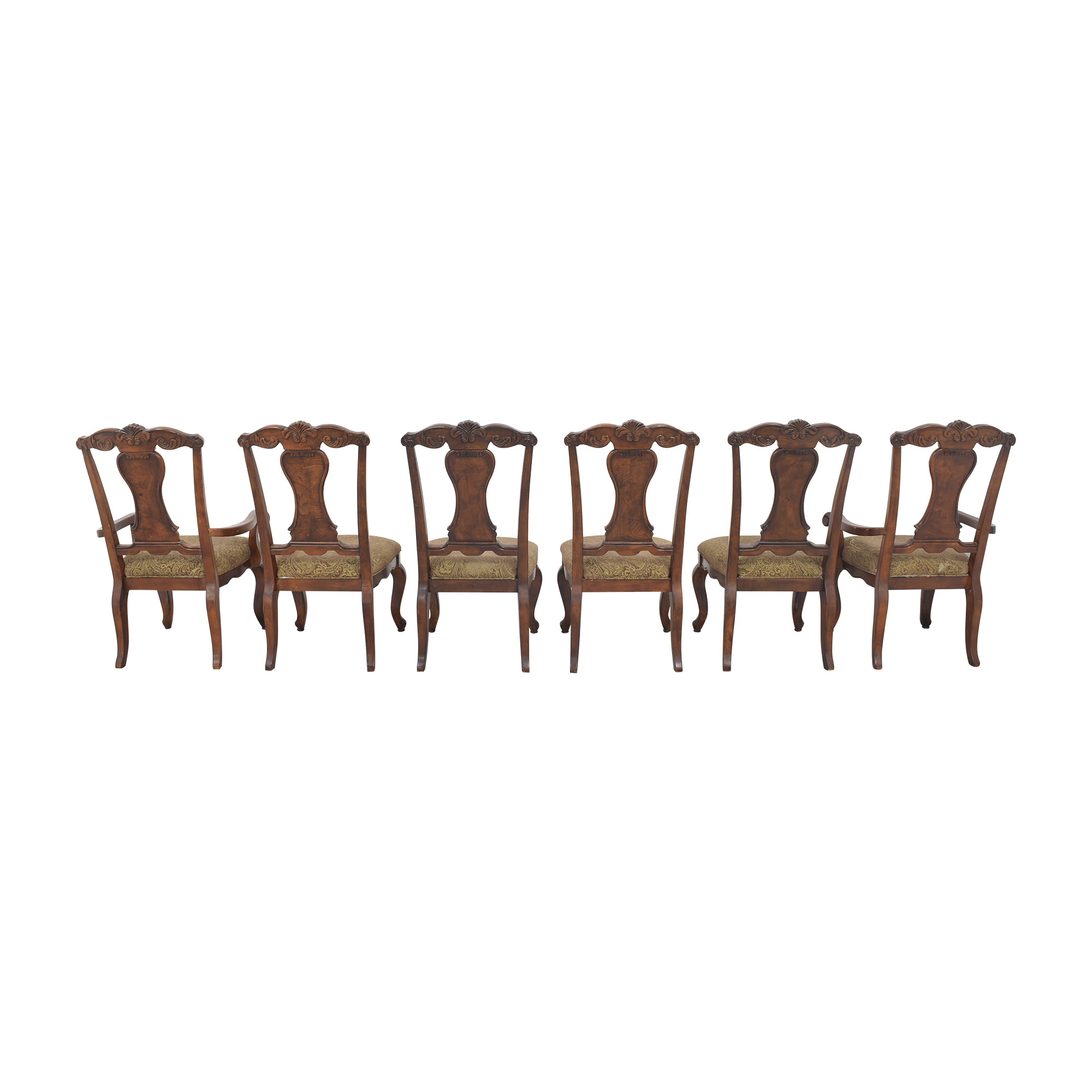 Raymour & Flanigan Raymour & Flanigan Carved Dining Chairs for sale