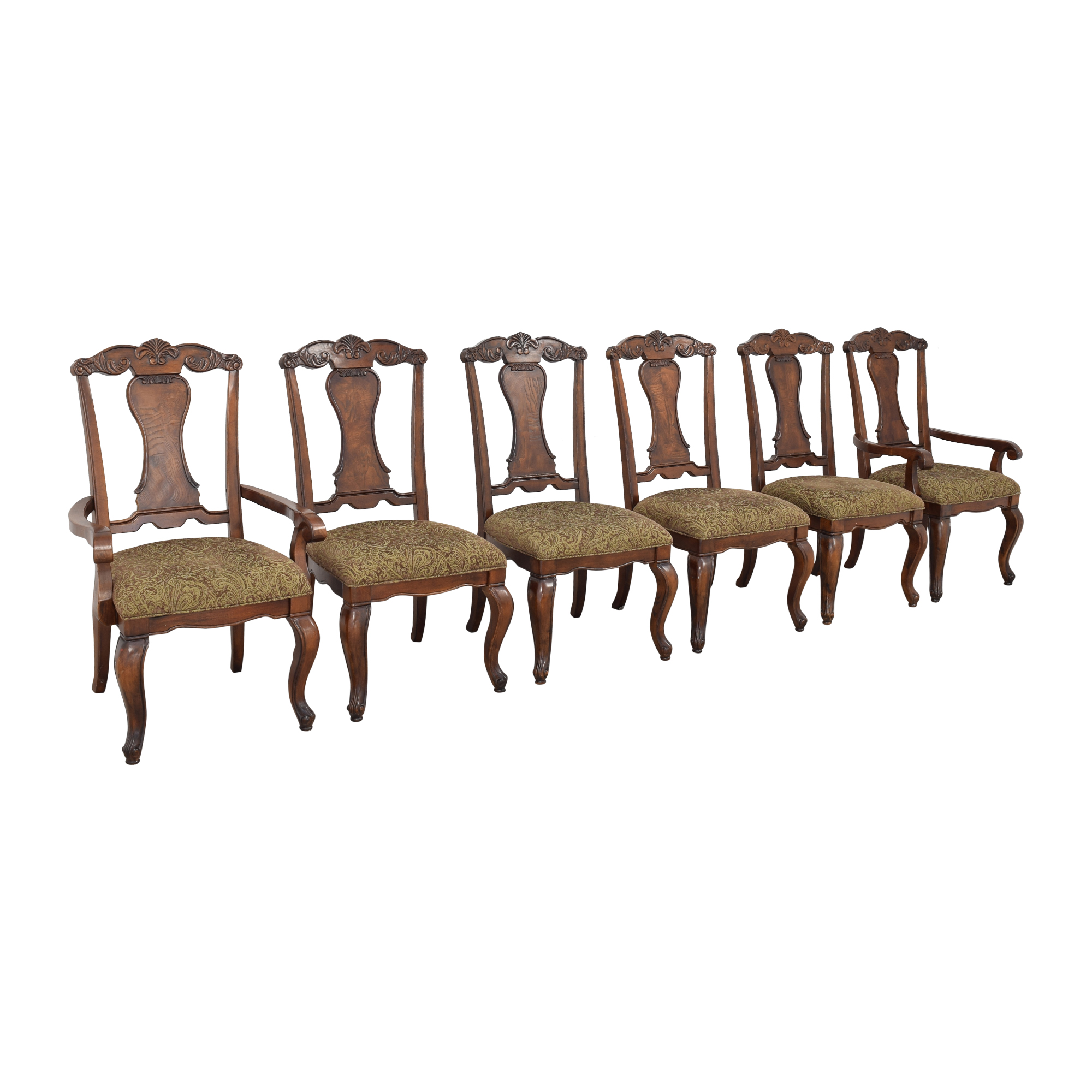 Raymour & Flanigan Raymour & Flanigan Carved Dining Chairs price