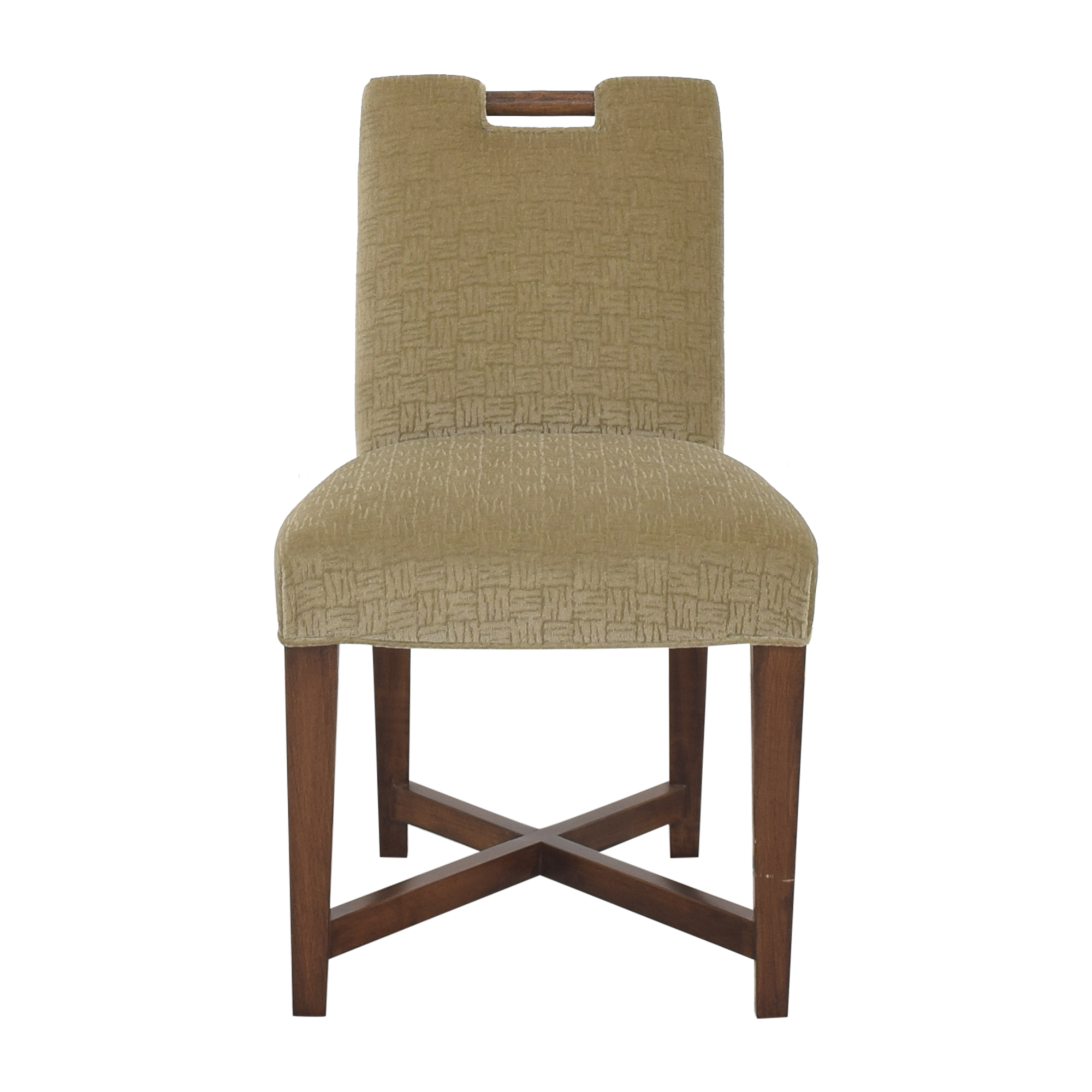 Donghia Donghia Custom Upholstered Chair dark brown and green