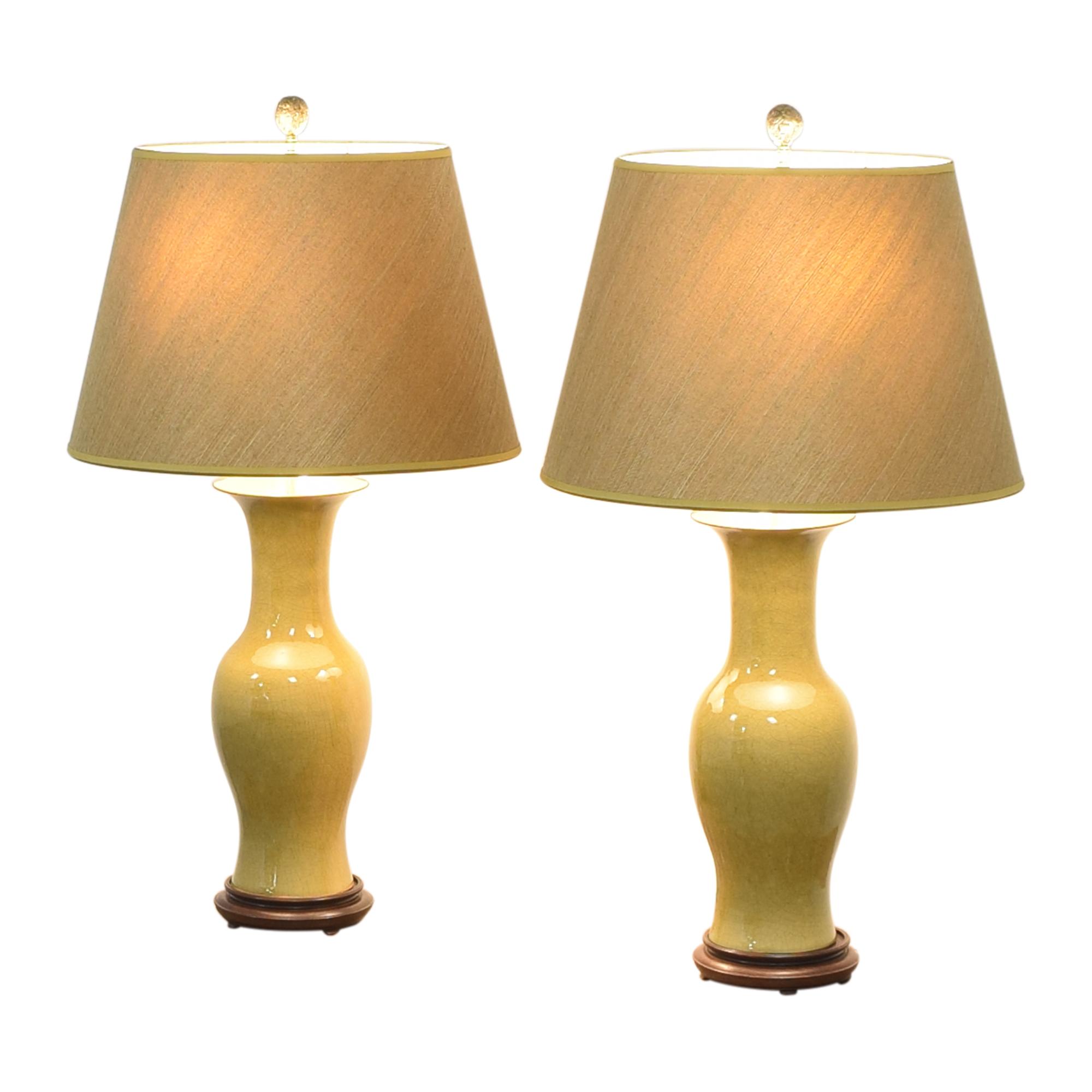 Warren Kessler Urn Table Lamps Warren Kessler