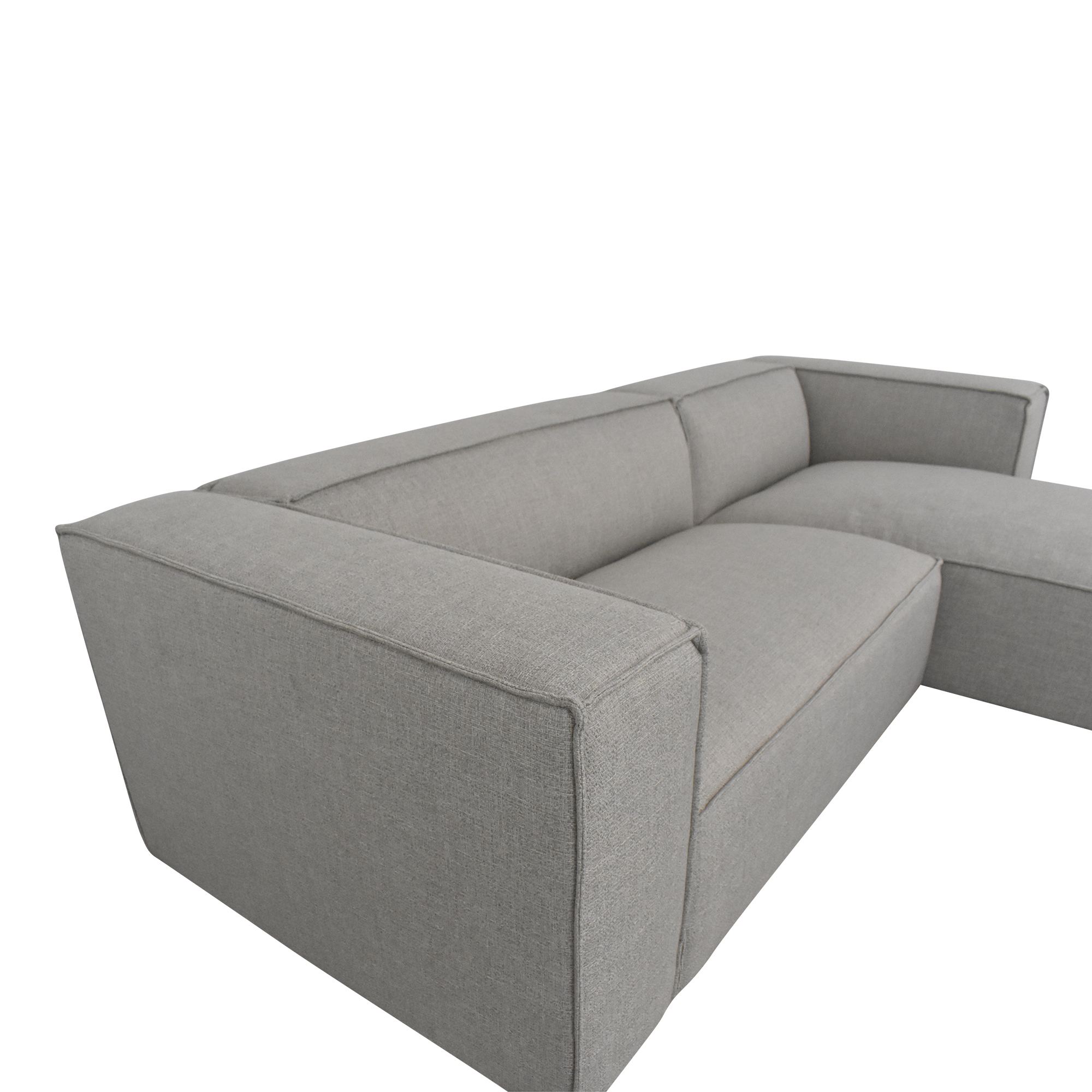 Interior Define Interior Define Gray Sectional Sofa with Chaise discount