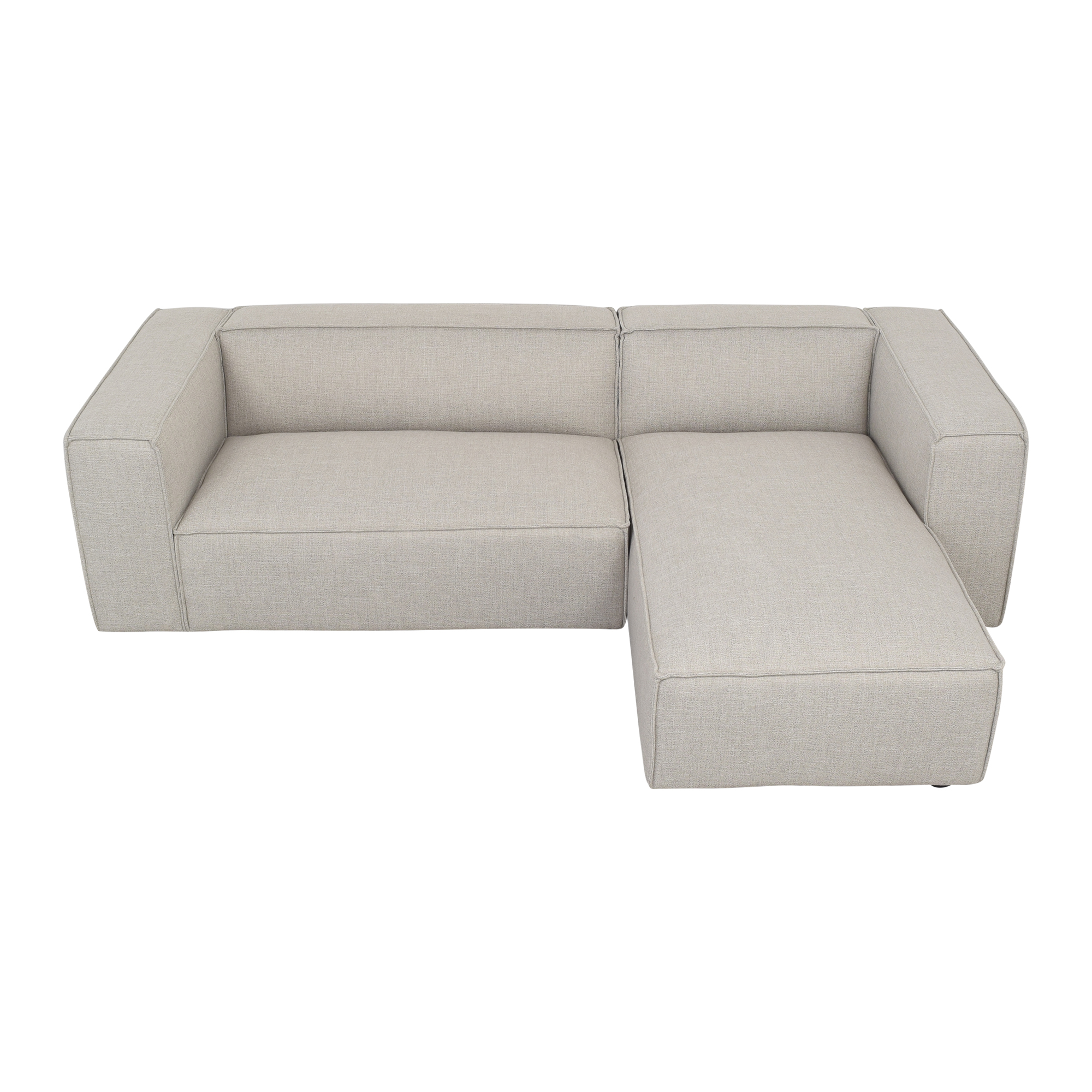 Interior Define Interior Define Gray Sectional Sofa with Chaise ma