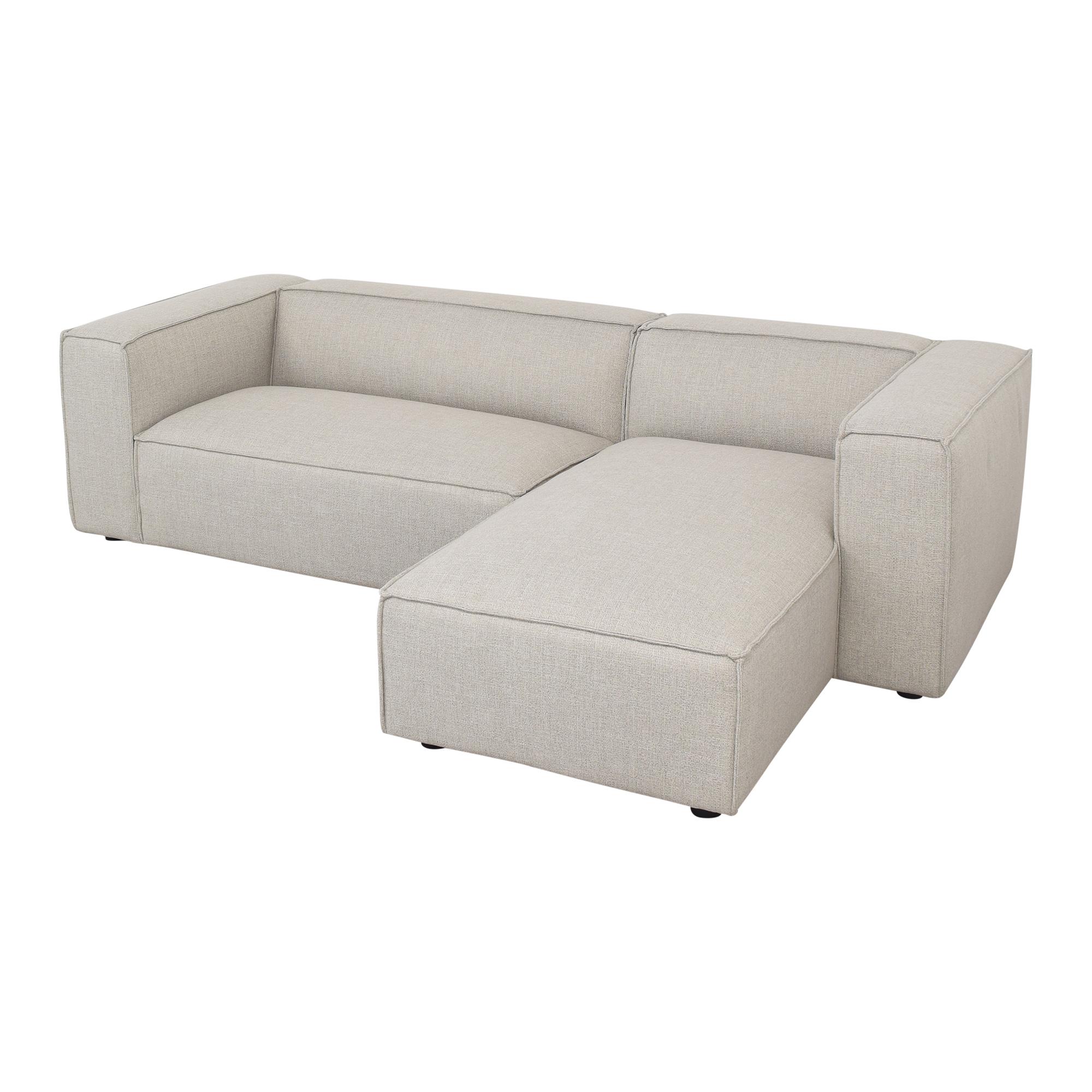 Interior Define Interior Define Gray Sectional Sofa with Chaise price
