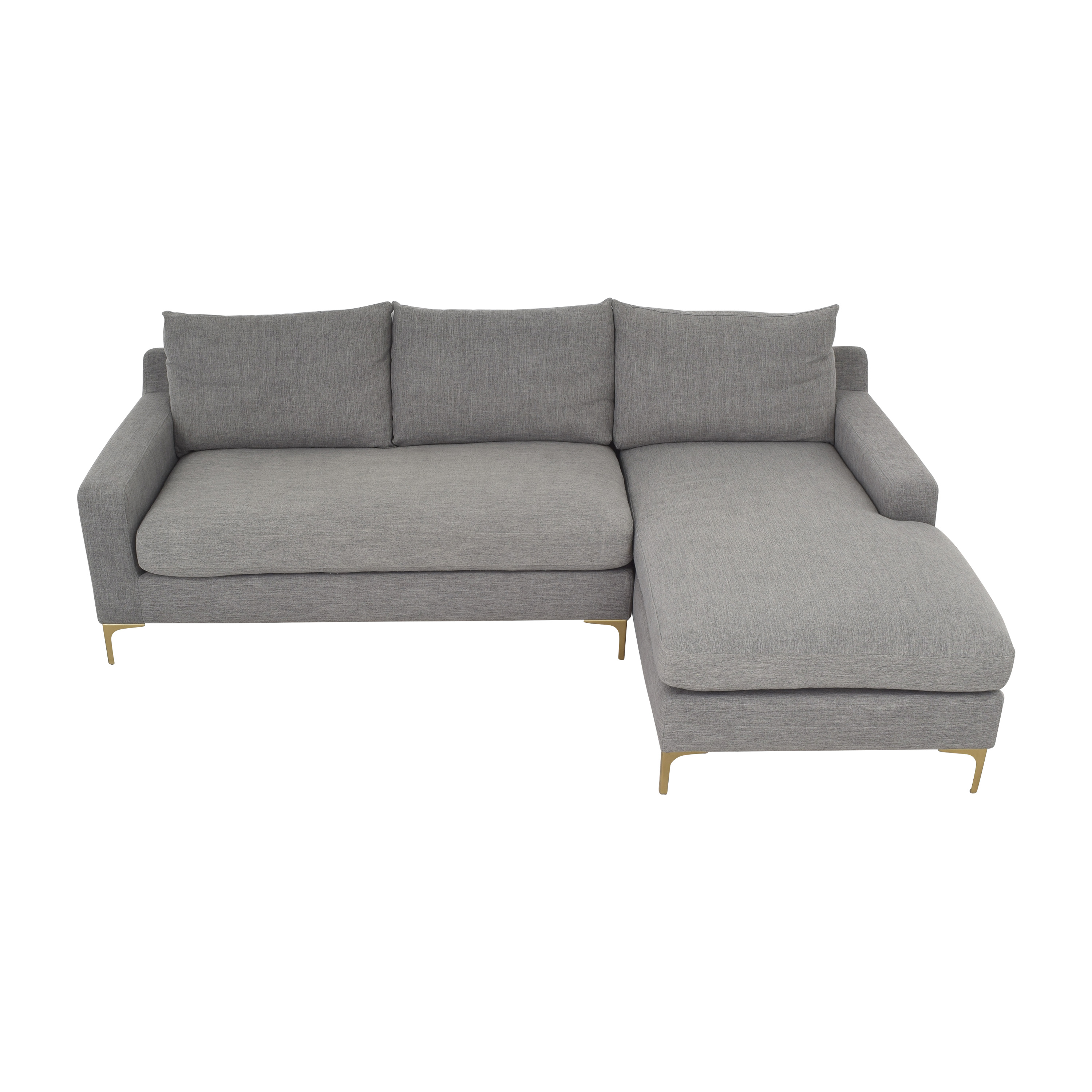 Interior Define Interior Define Sloan Sectional Sofa with Chaise on sale