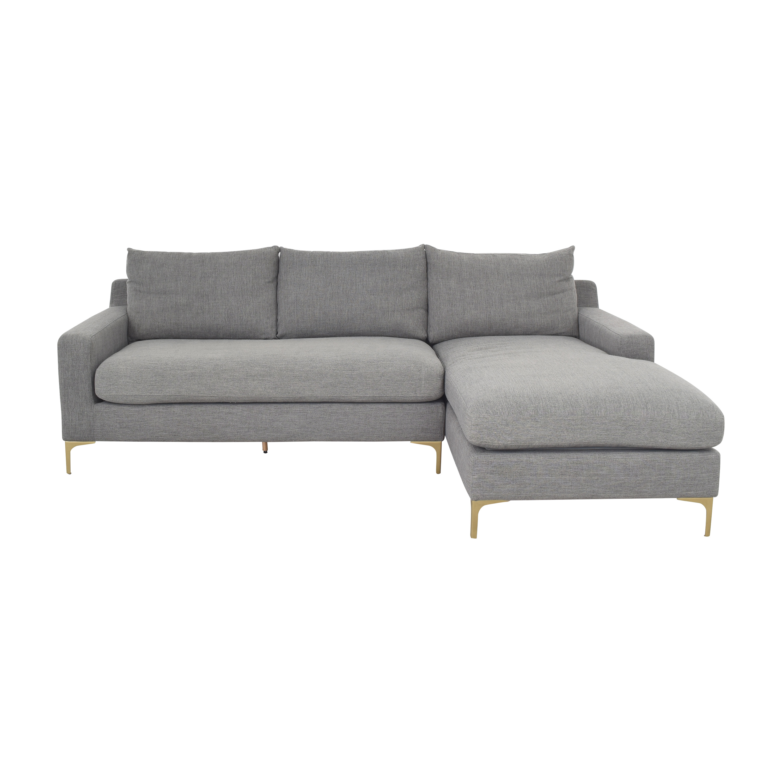 shop Interior Define Sloan Sectional Sofa with Chaise Interior Define Sectionals