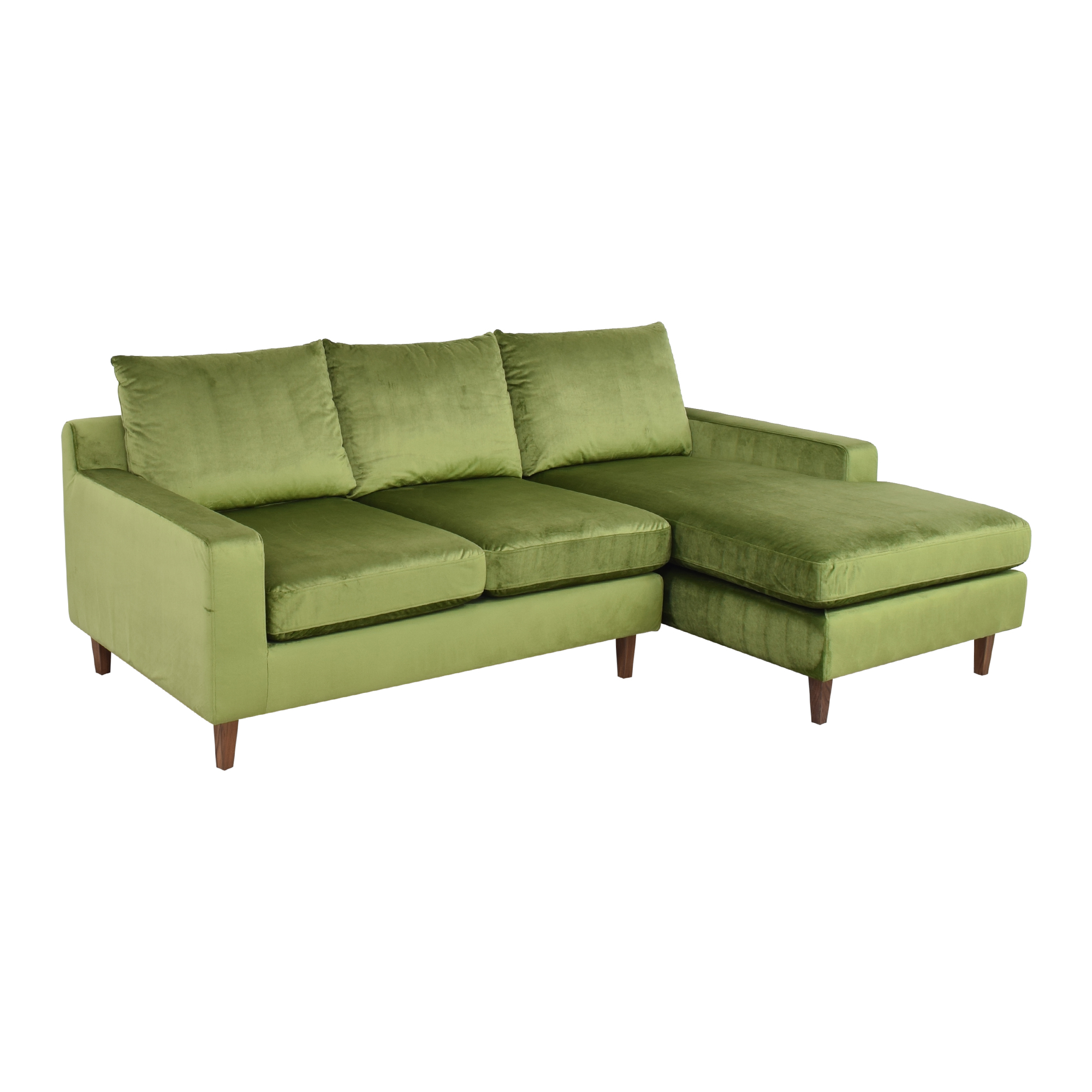 Interior Define Interior Define Sloan Sectional Sofa with Chaise green