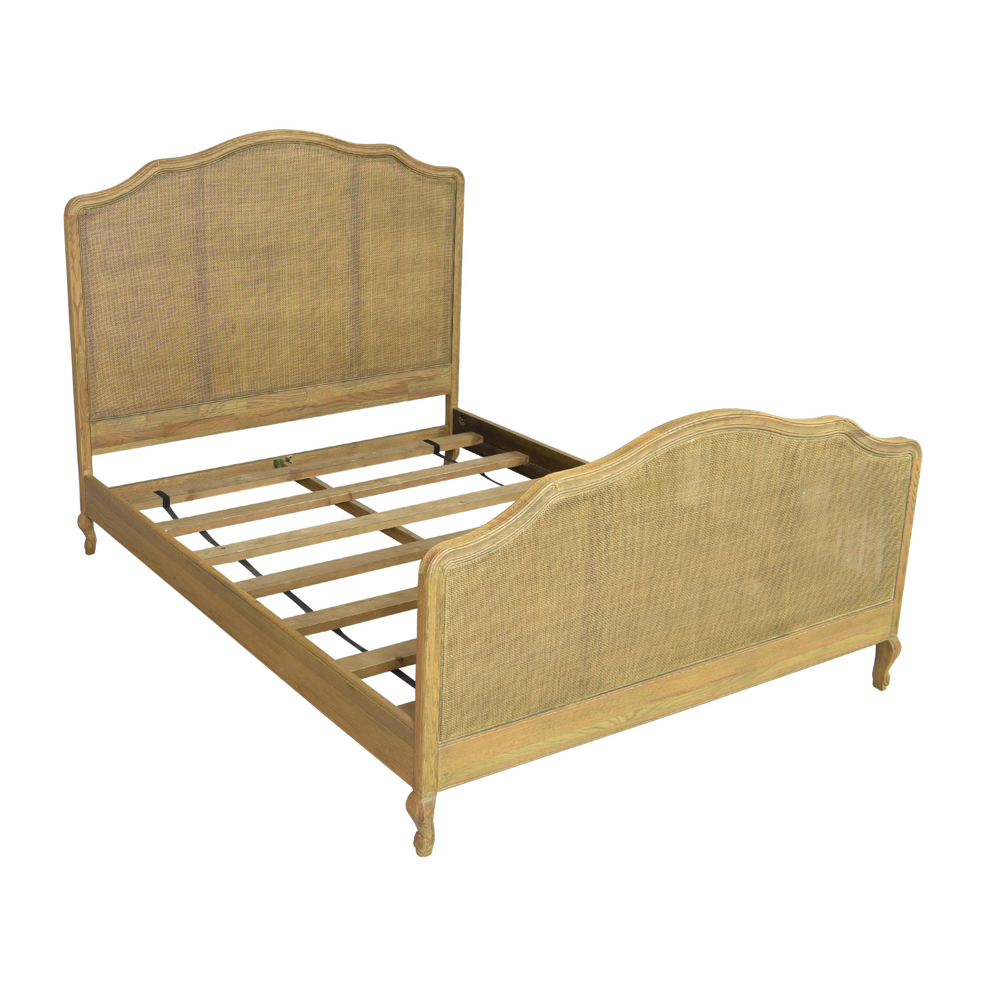 Restoration Hardware Restoration Hardware Lorraine Caned Queen Bed brown
