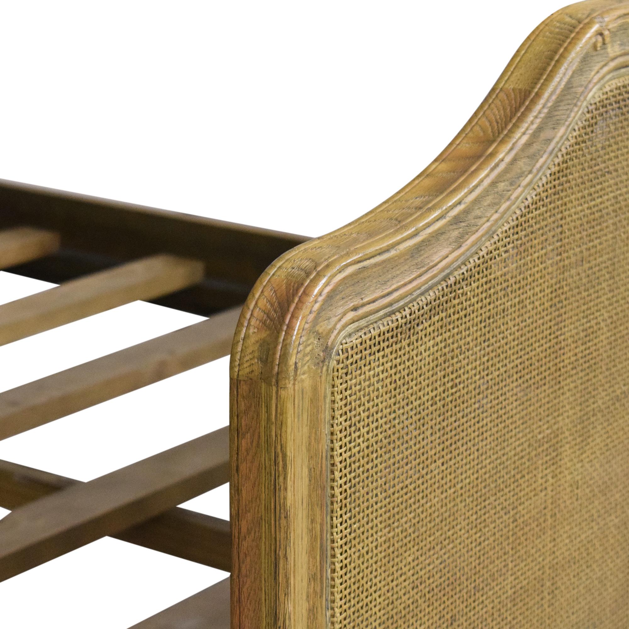 shop Restoration Hardware Lorraine Caned Queen Bed Restoration Hardware