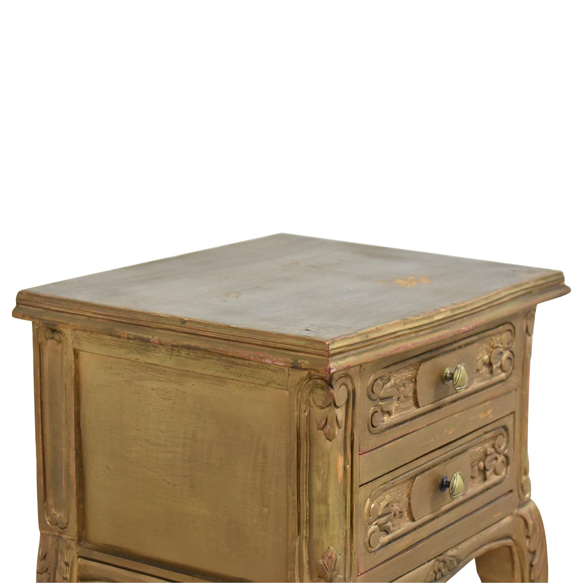 buy Restoration Hardware Restoration Hardware Two Drawer Side Table online