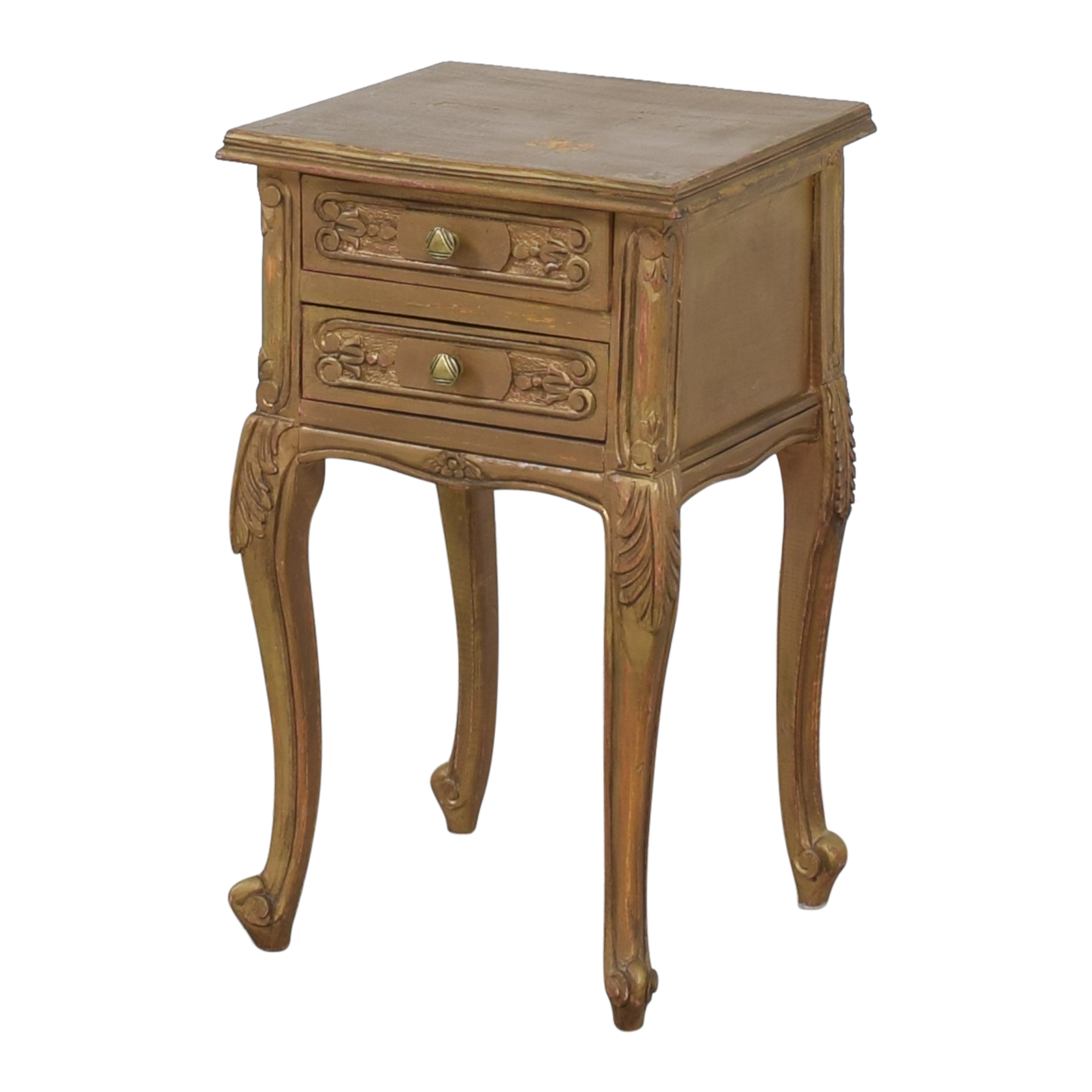 Restoration Hardware Restoration Hardware Two Drawer Side Table second hand
