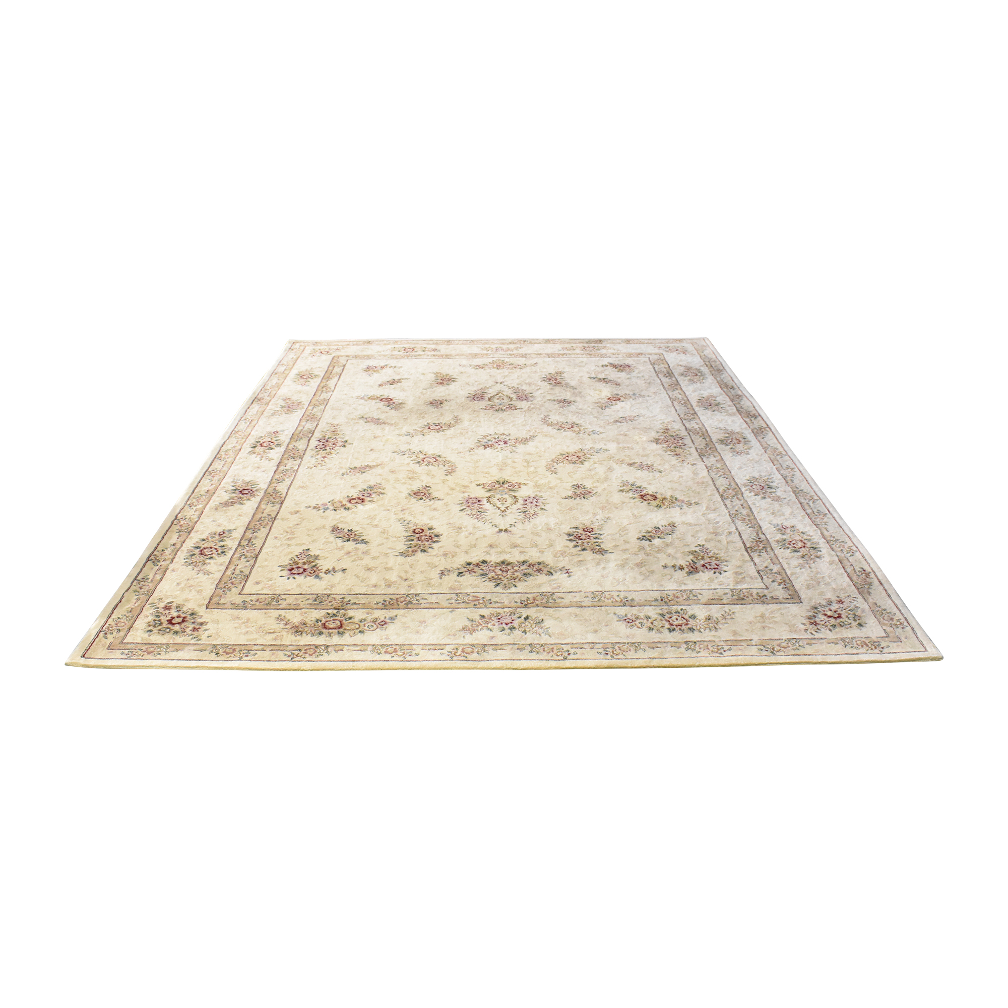 Floral Pattern Area Rug multi-colored