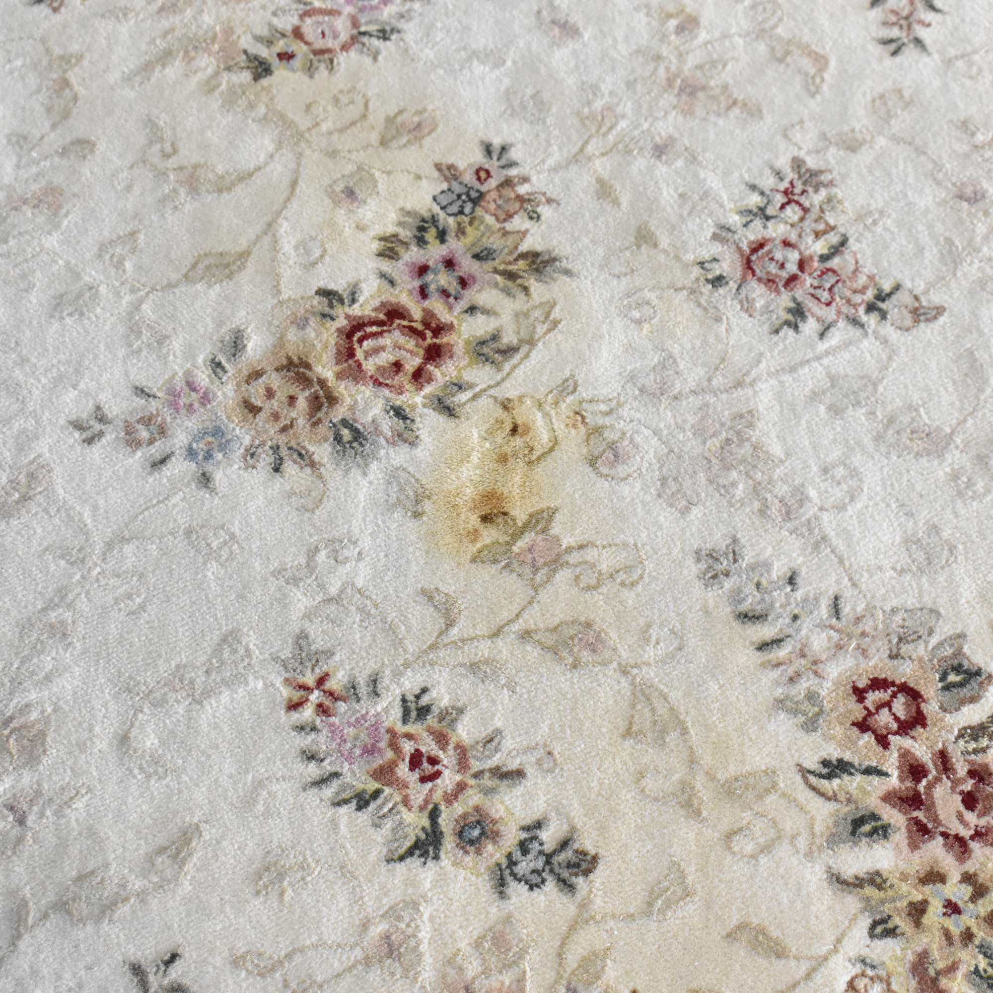 Floral Pattern Area Rug second hand