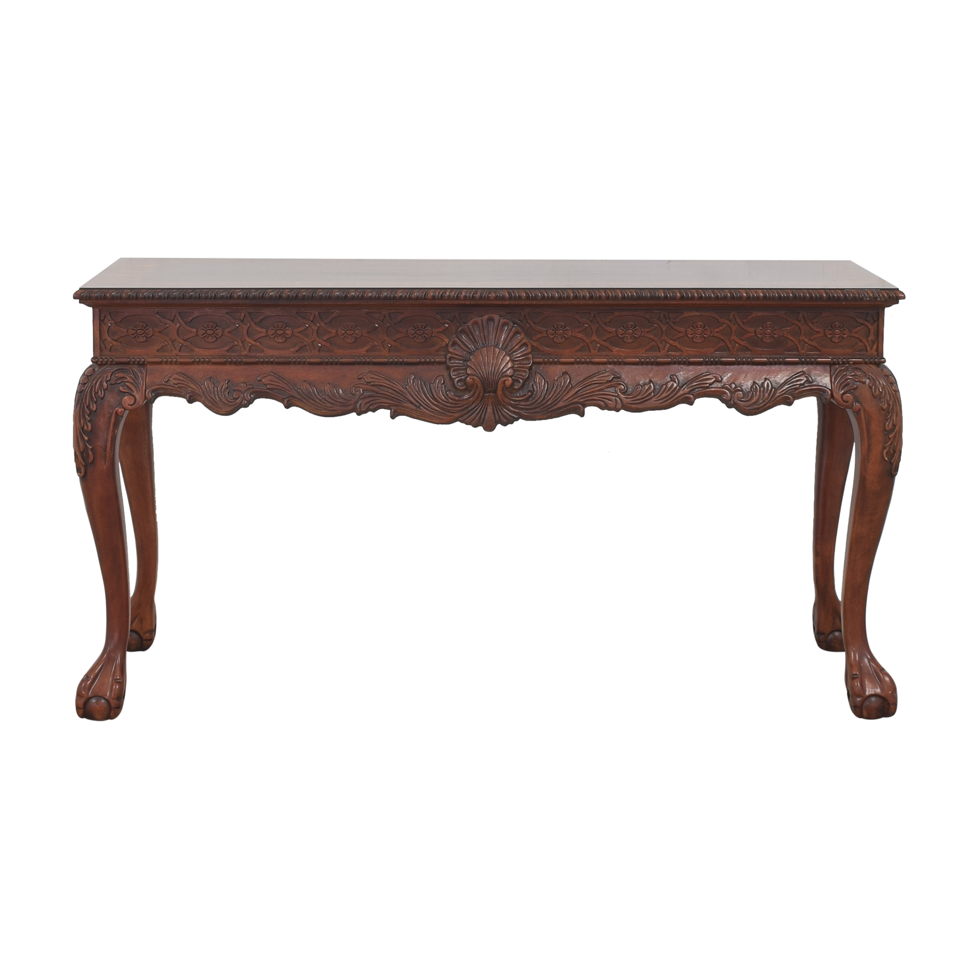 Macy's Macy's Carved Accent Table brown