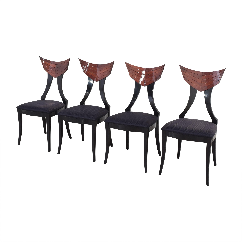 Ello Furniture Pietro Constantini for Ello Klismos Dining Chairs used