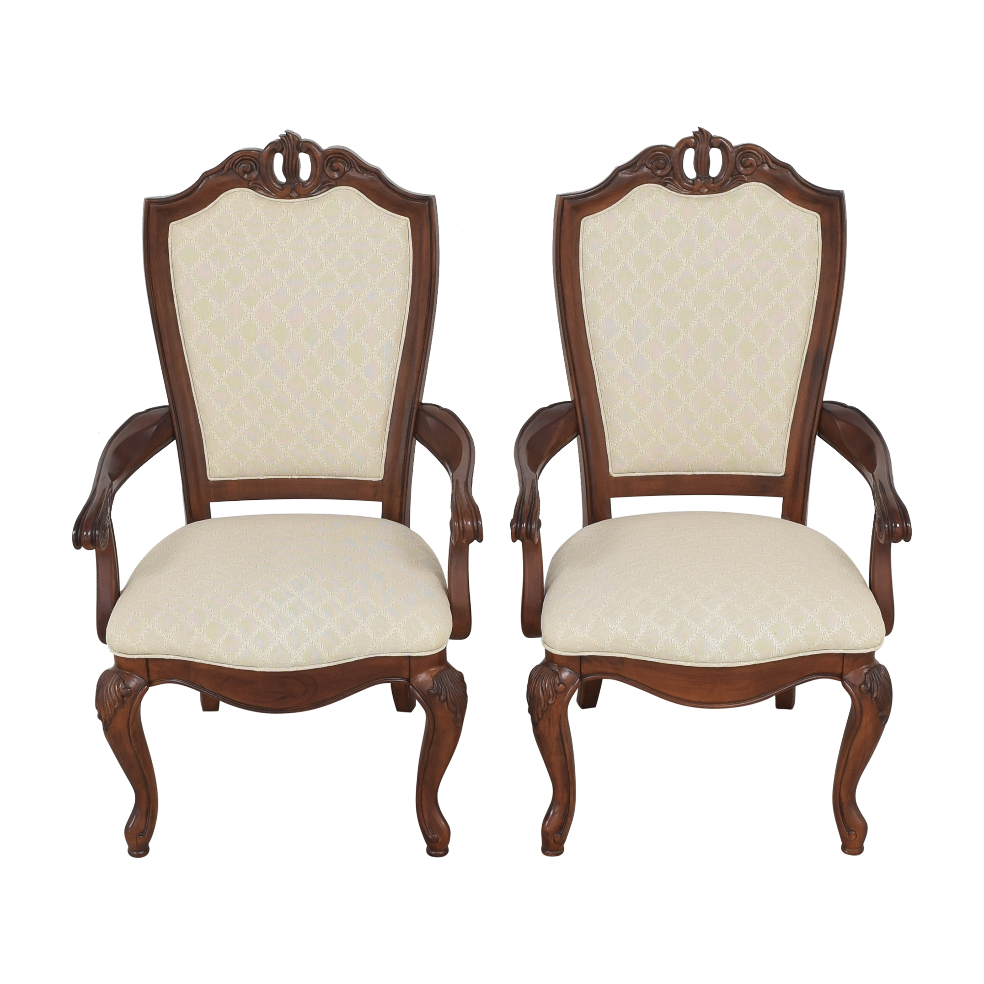 American Drew American Drew Upholstered Dining Arm Chairs Chairs