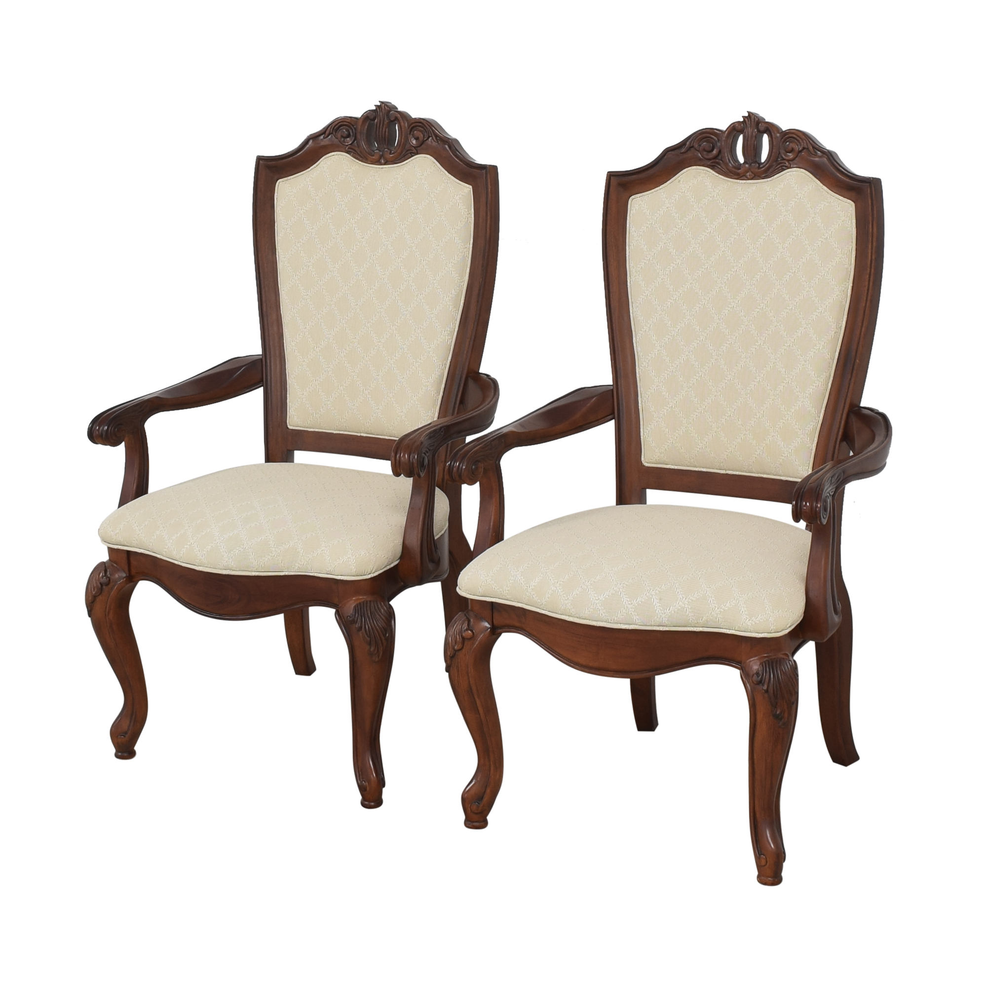 American Drew American Drew Upholstered Dining Arm Chairs coupon