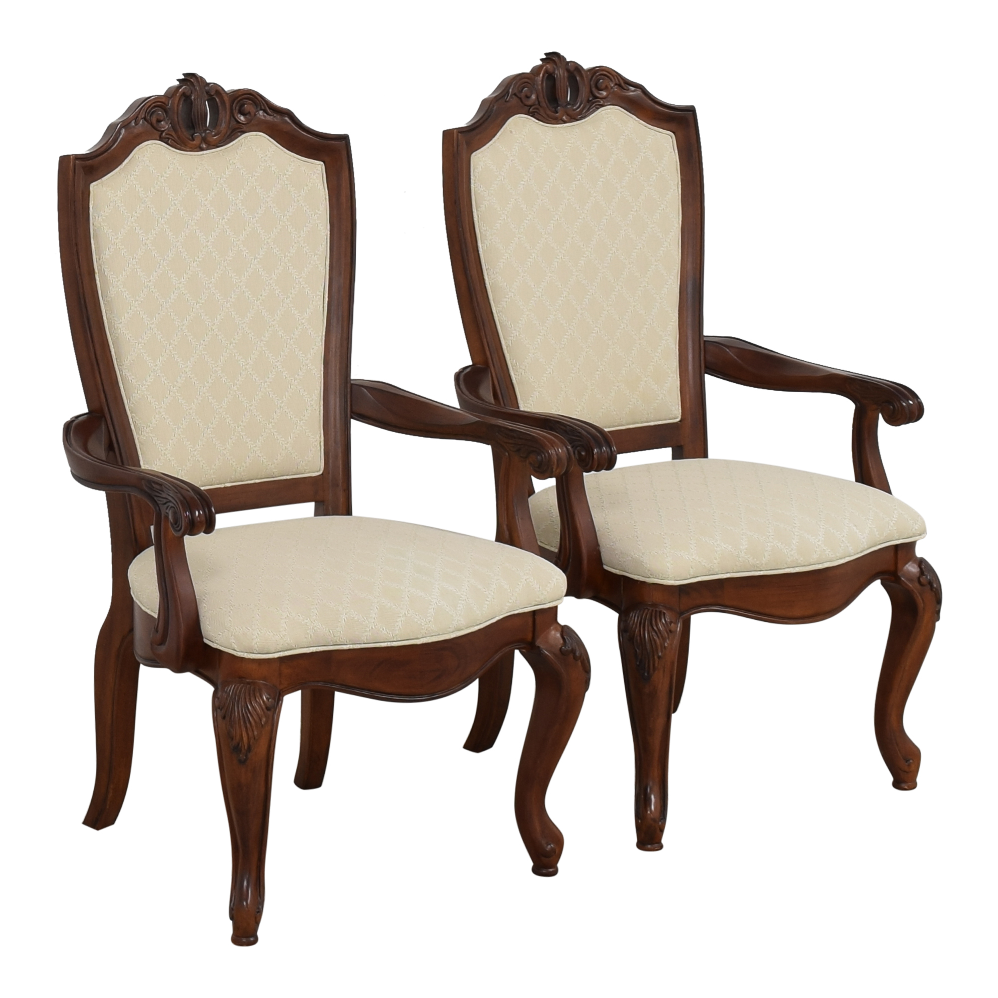 shop American Drew Upholstered Dining Arm Chairs American Drew