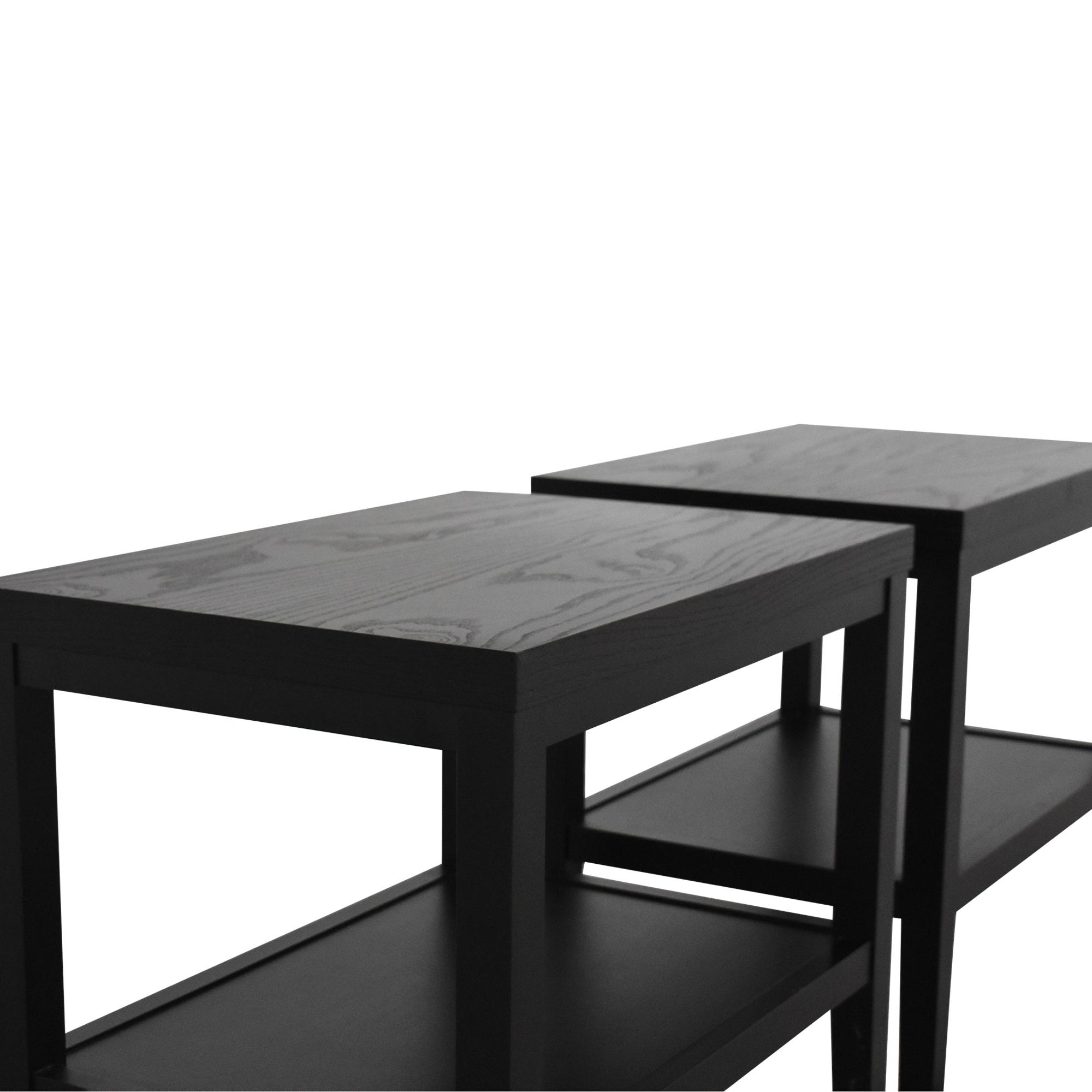 Crate & Barrel Crate & Barrel Baronet End Tables dimensions