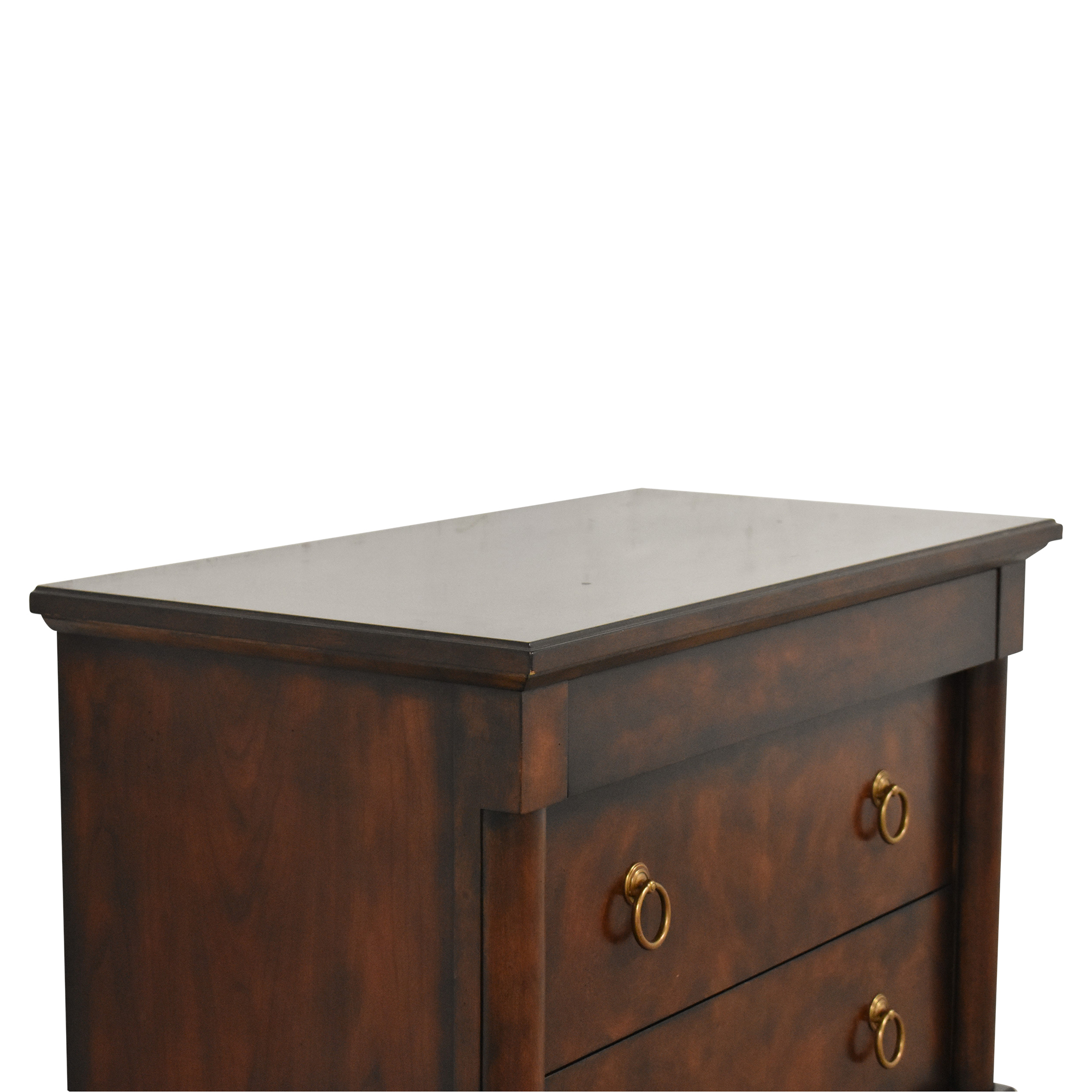 shop Bernhardt Market Street Three Drawer Nightstand Bernhardt End Tables