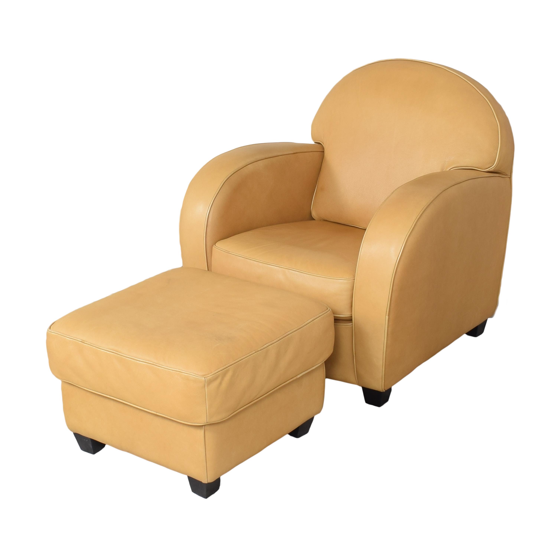 buy Natuzzi Accent Chair with Ottoman Natuzzi