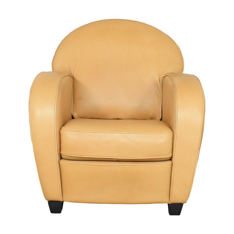 Natuzzi Natuzzi Accent Chair with Ottoman Chairs