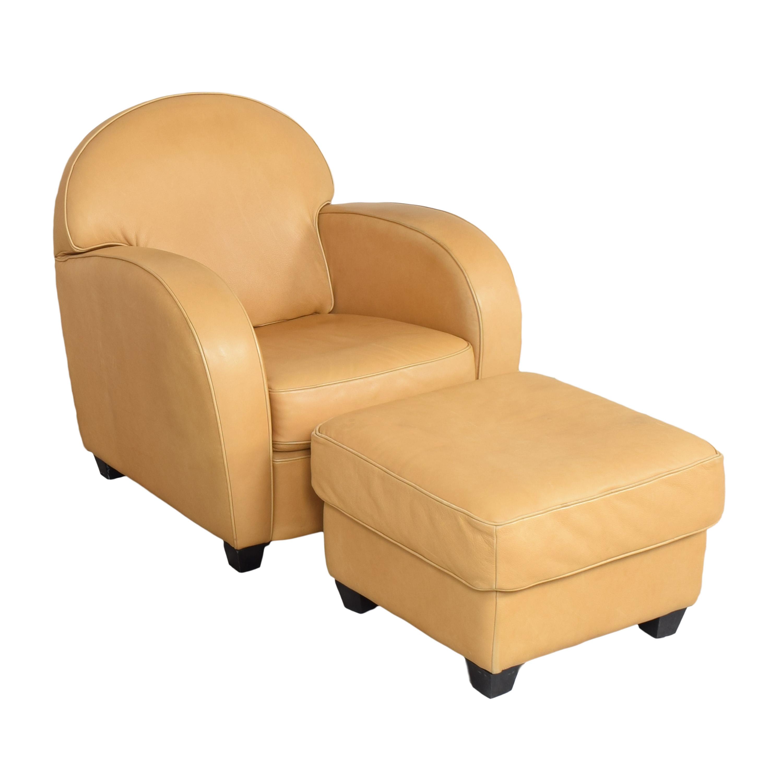 buy Natuzzi Accent Chair with Ottoman Natuzzi Chairs