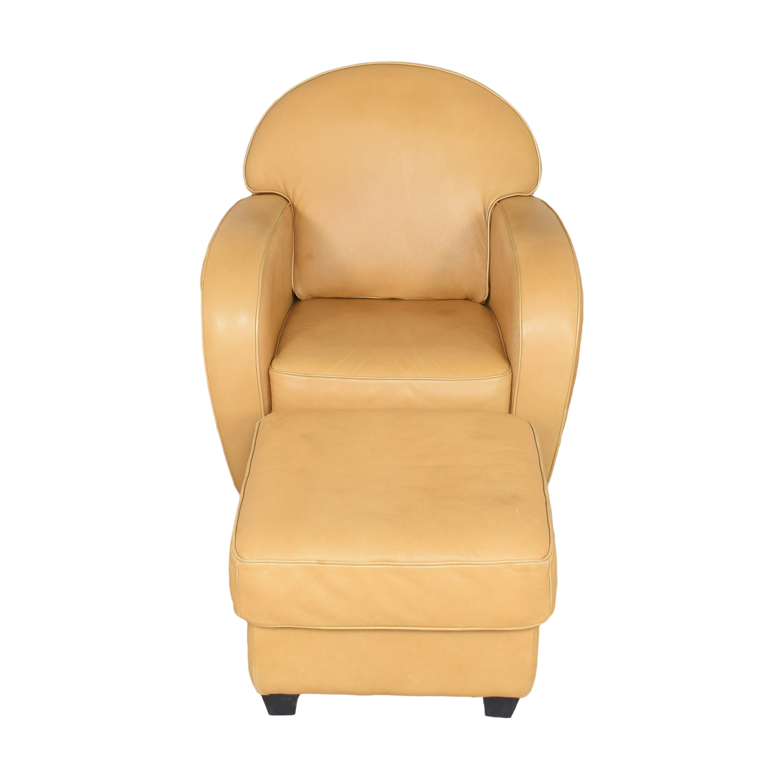 Natuzzi Natuzzi Accent Chair with Ottoman nyc