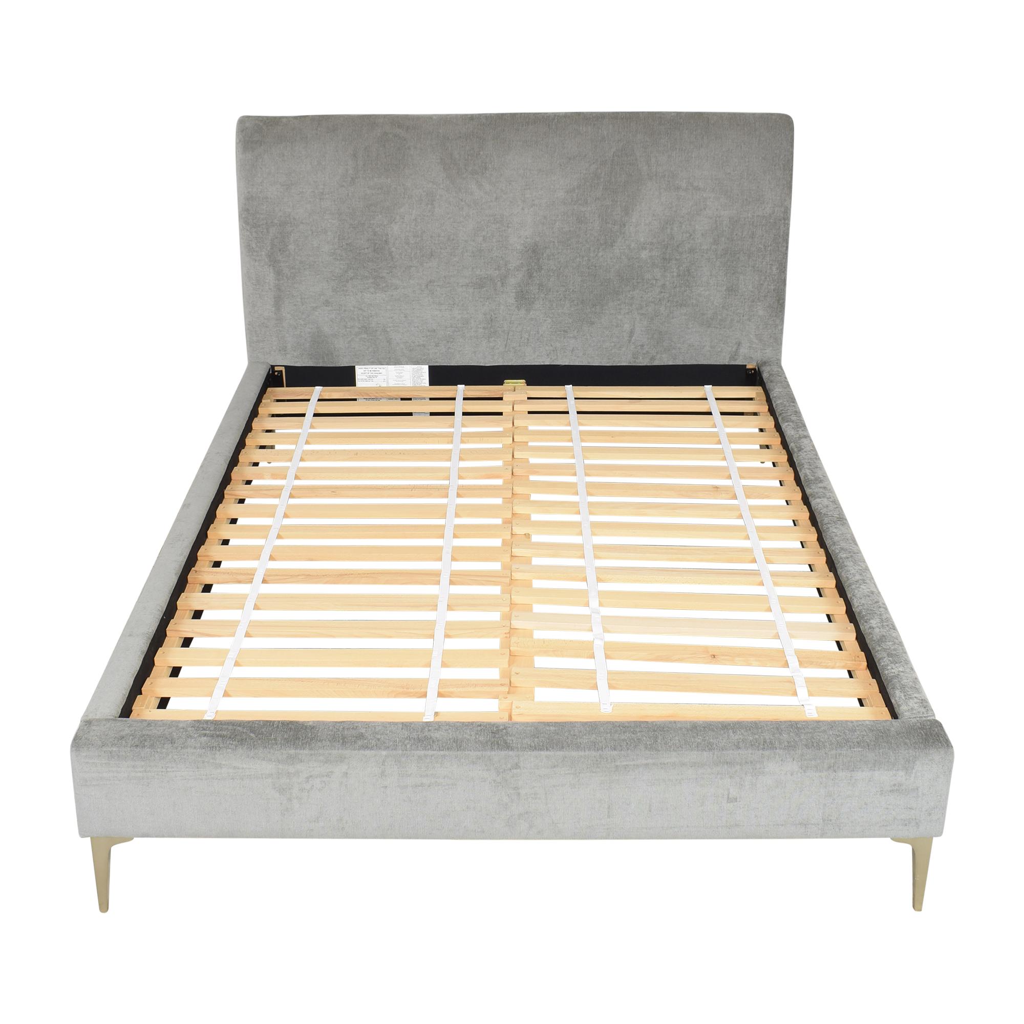 West Elm West Elm Andes Deco Upholstered Queen Bed for sale