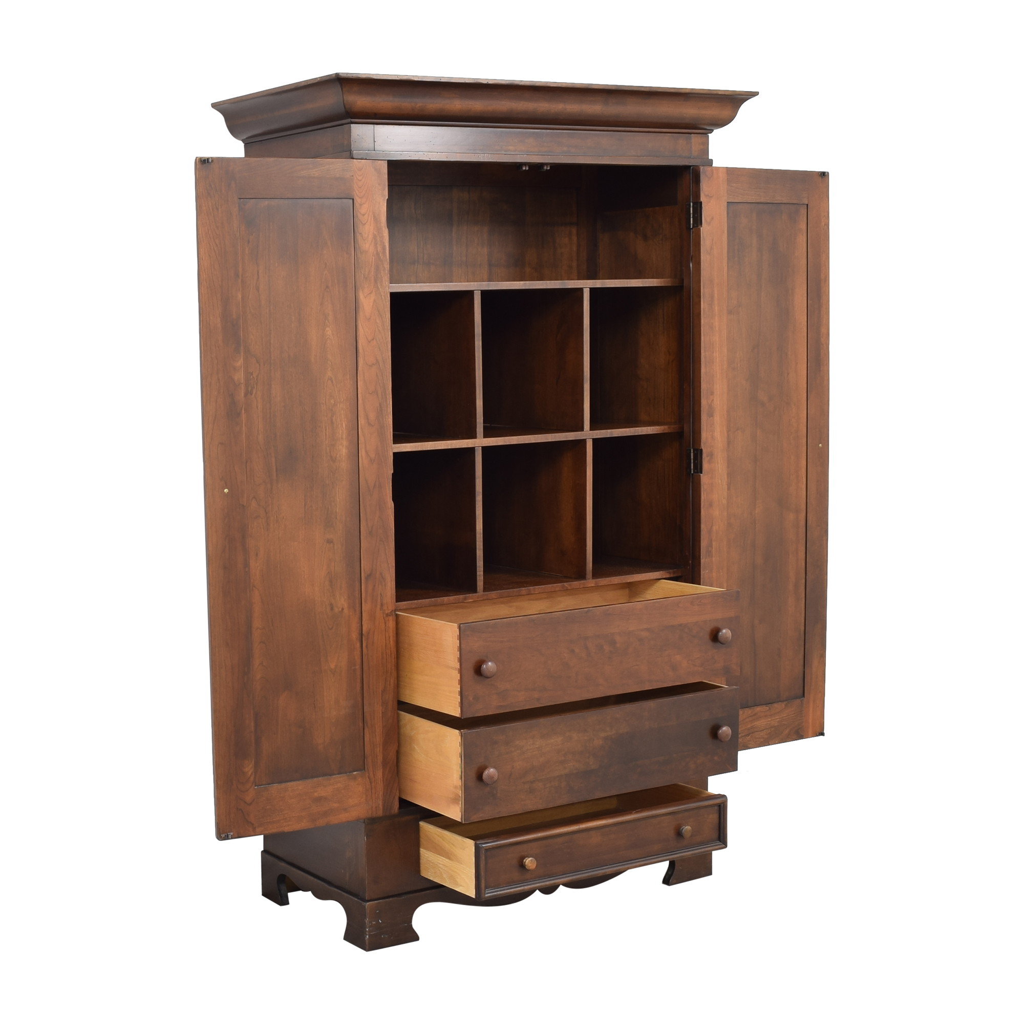 Traditional Armoire with Drawers for sale