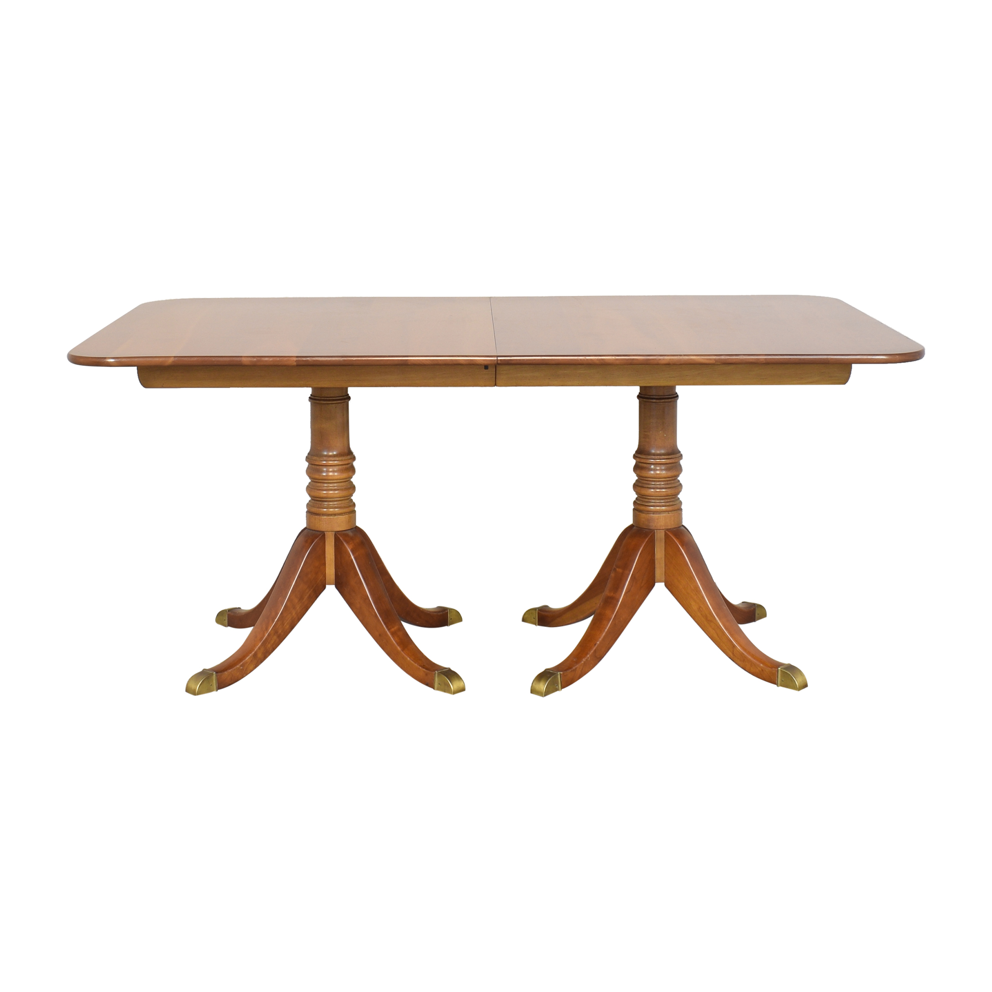 Stickley Furniture Stickley Furniture Double Pedestal Extendable Dining Table on sale