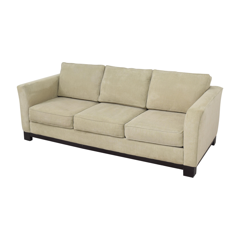 Havertys Havertys Three Cushion Sofa beige