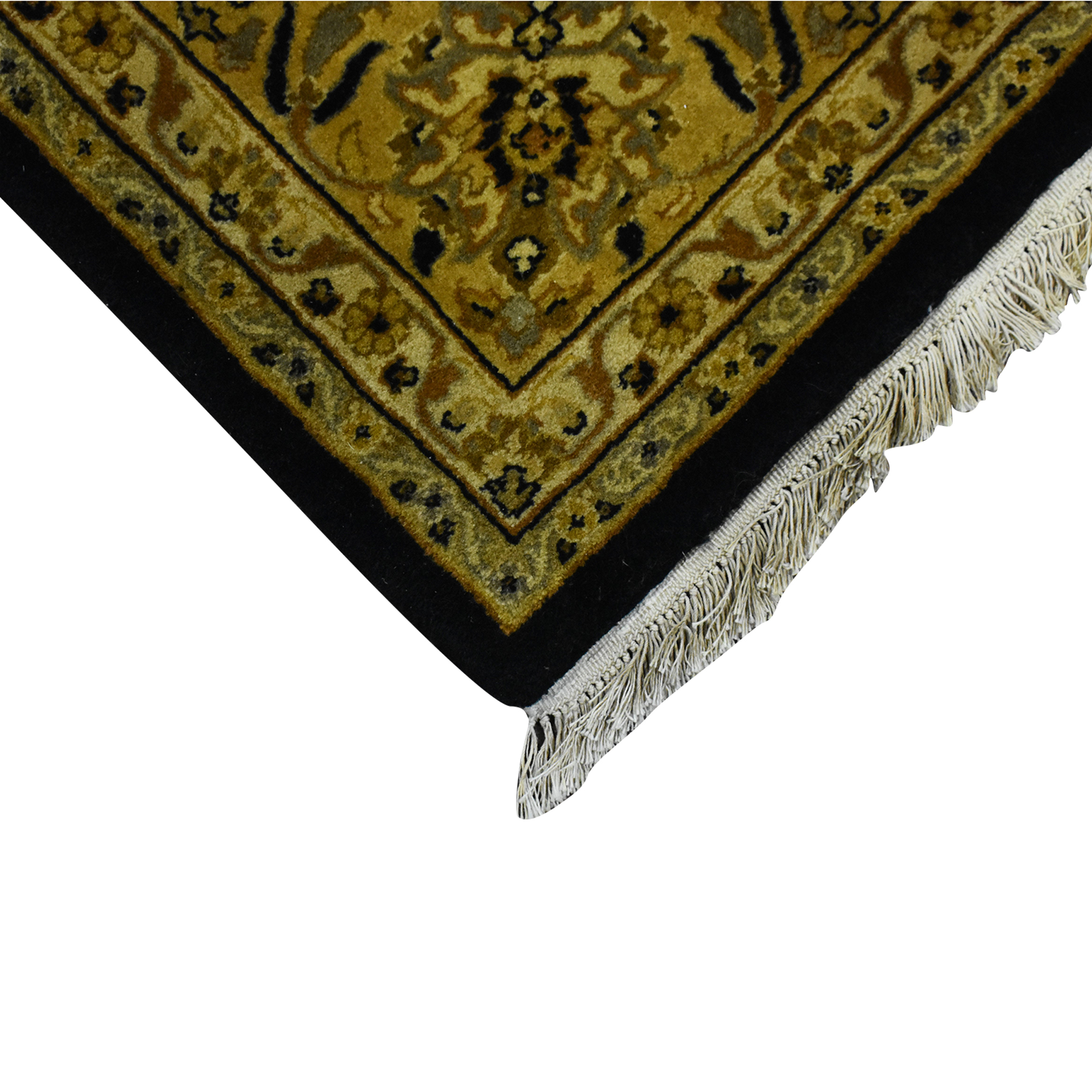 Patterned Area Rug yellow and black