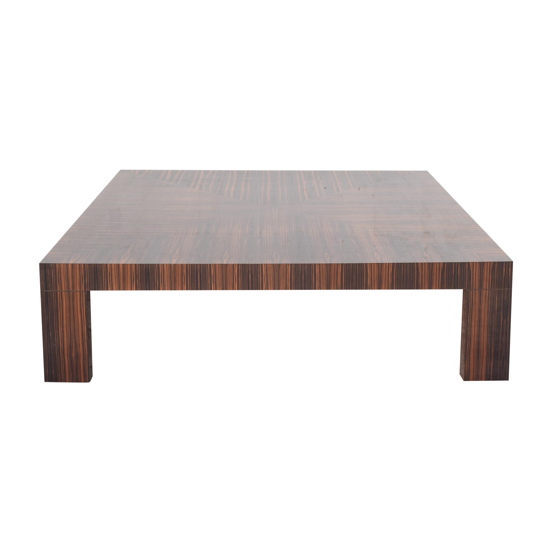 Custom Macassar Ebony Style Square Coffee Table