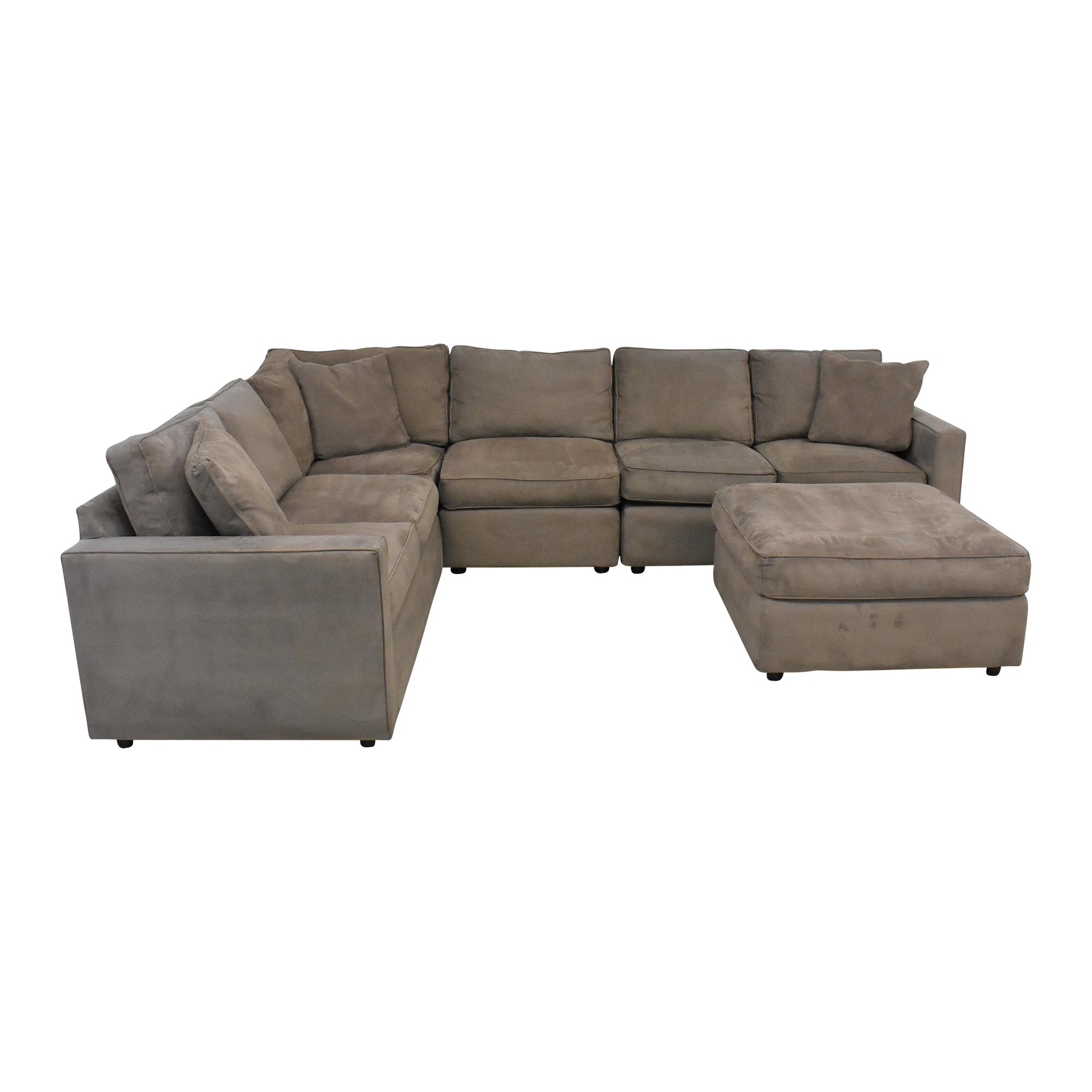 Room & Board Room & Board York Sectional Sofa with Ottoman brown